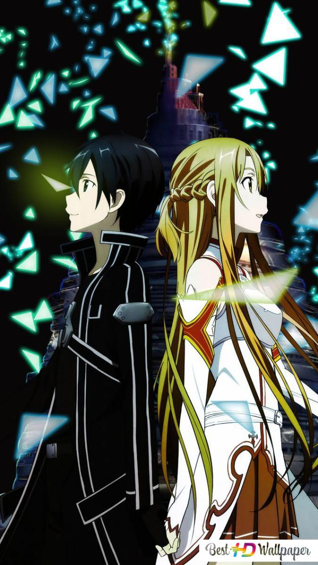 Sword Art Online Asuna Kirito Game End Hd