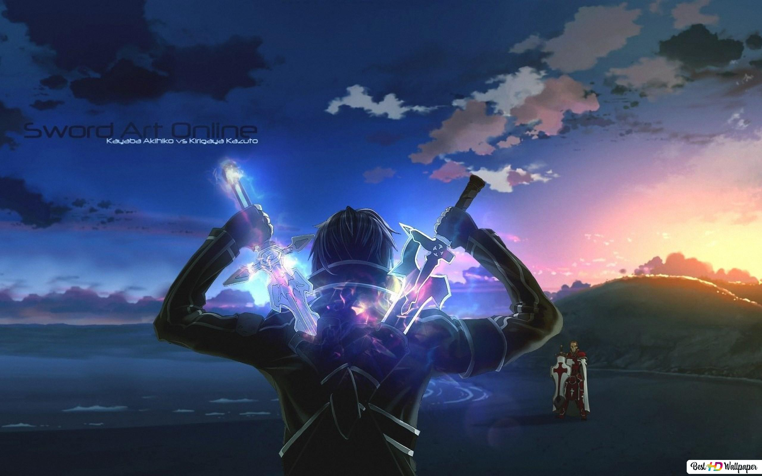Sword Art Online Kirito Vs Heathcliff Hd Hintergrundbilder