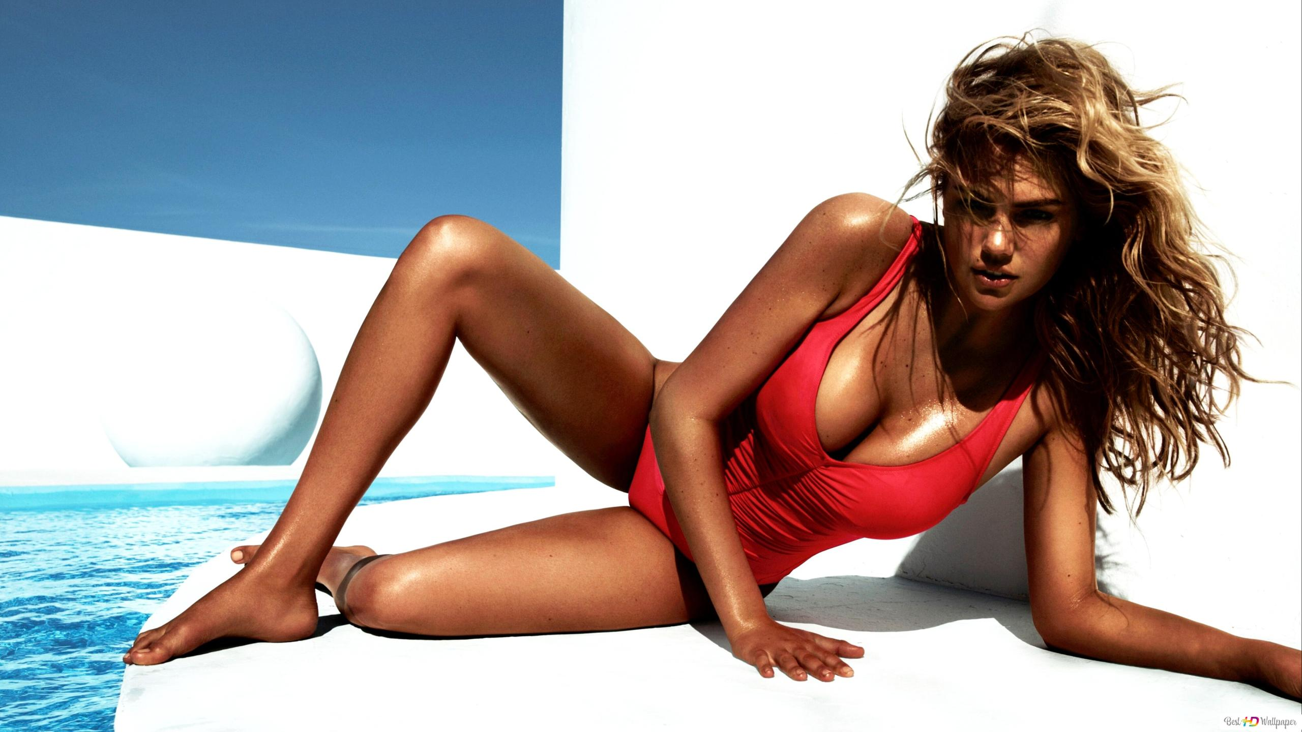 Tanned And Sexy Model Kate Upton Hd Wallpaper Download