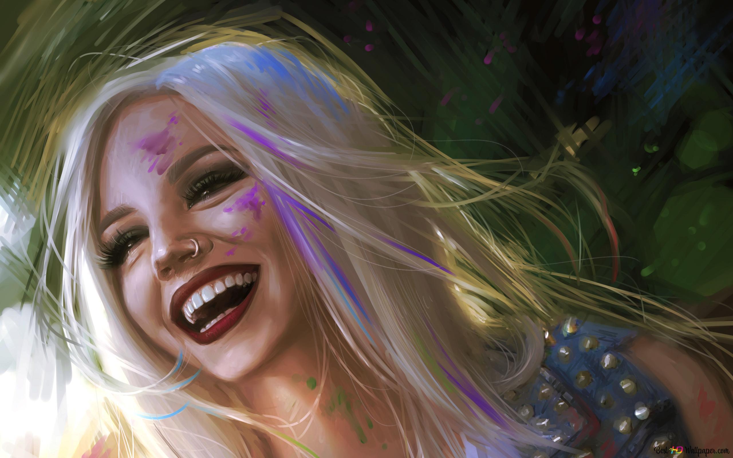 Tersenyum Gadis Dengan Hidung Ditindik Muat Turun Kertas Dinding Hd