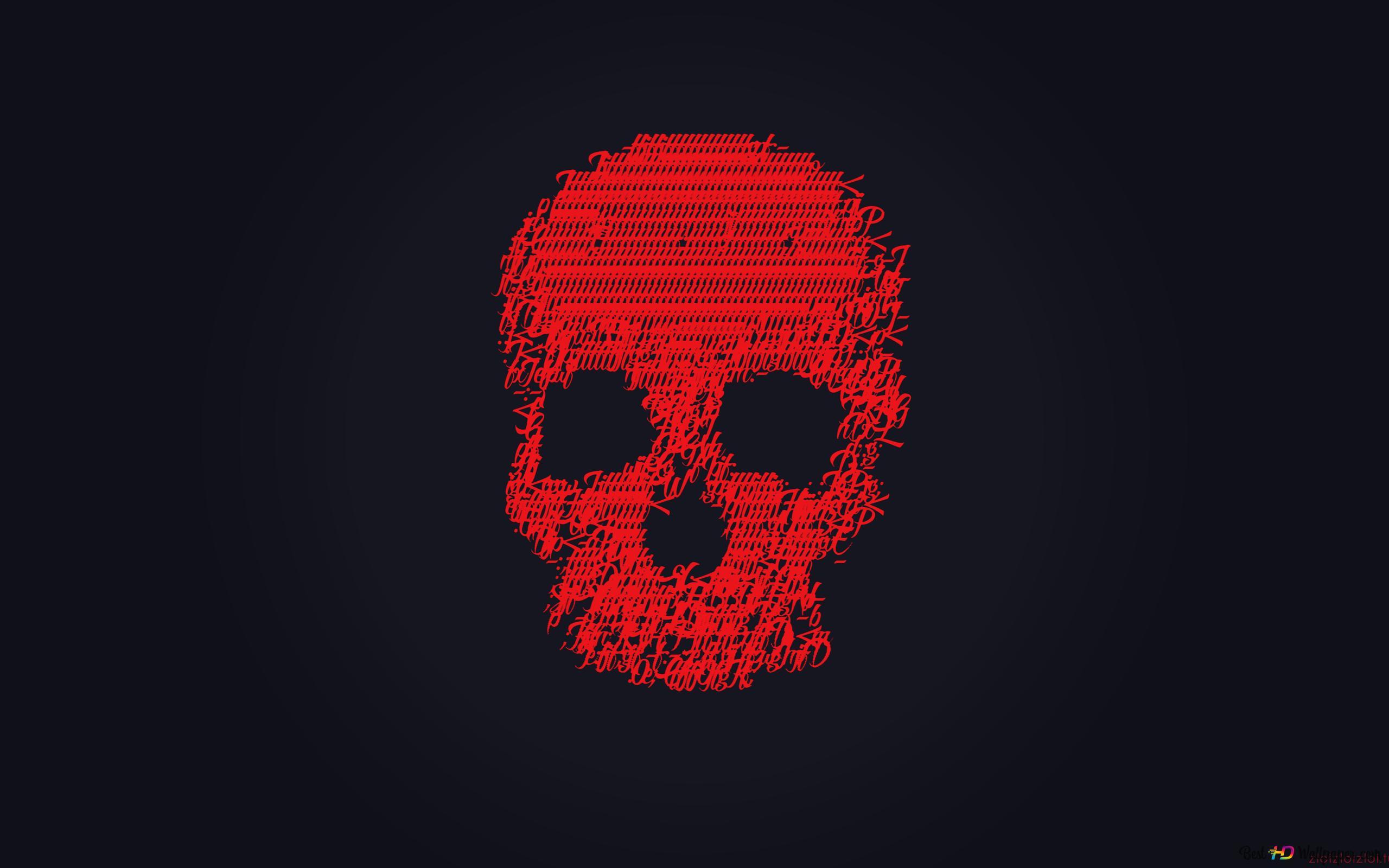 Teschio Rosso Download Di Sfondi Hd