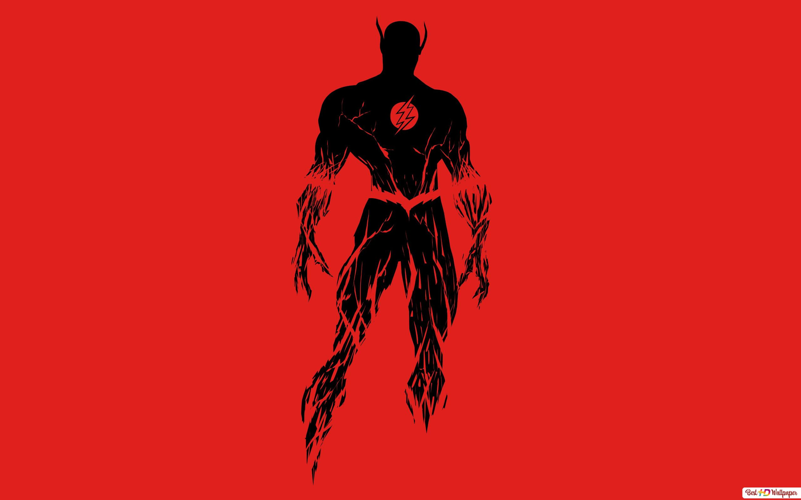 The Flash Black And Red Minimalist Hd Wallpaper Download