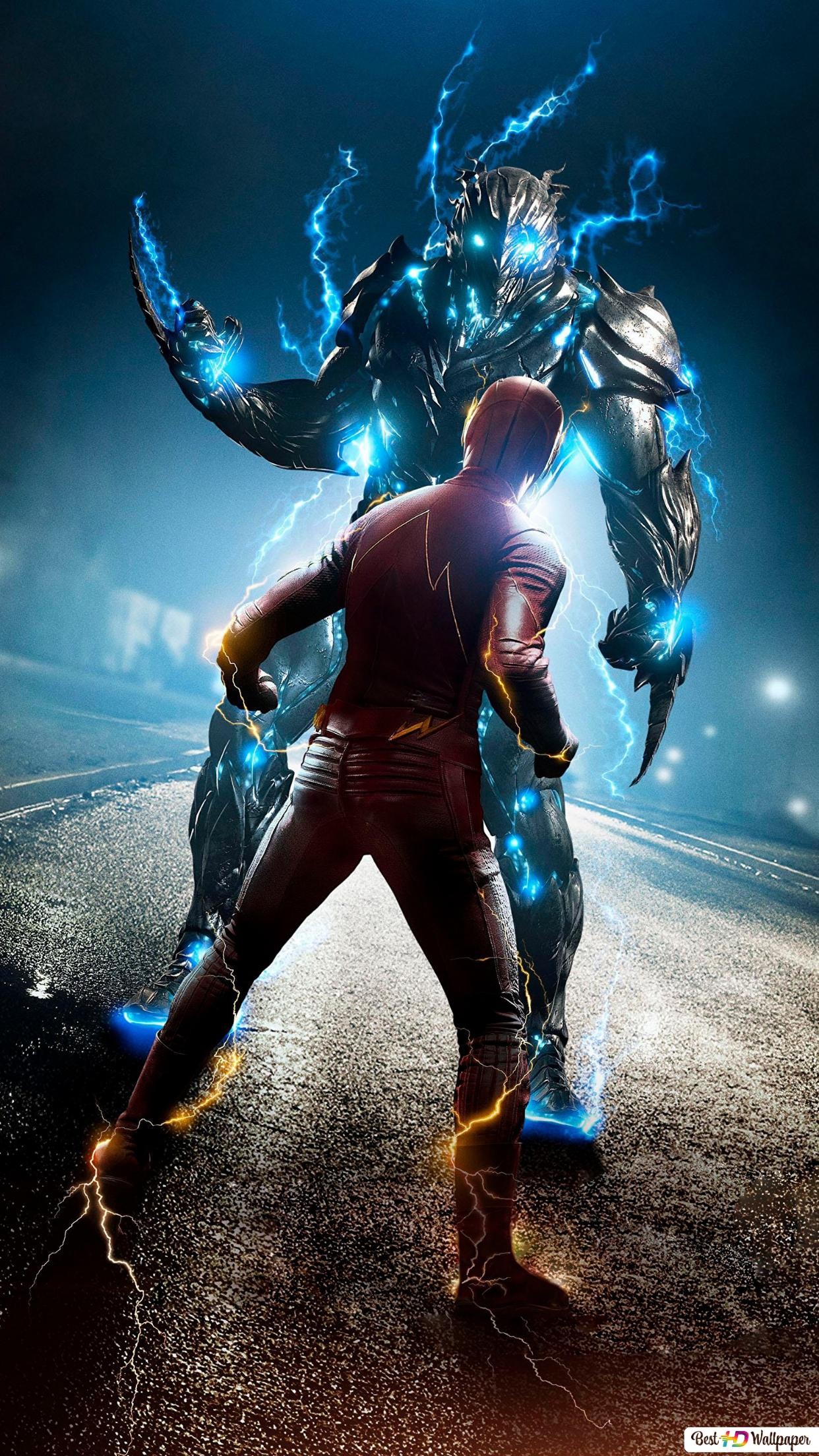 The Flash Series Fighting With Lightning Demon Hd