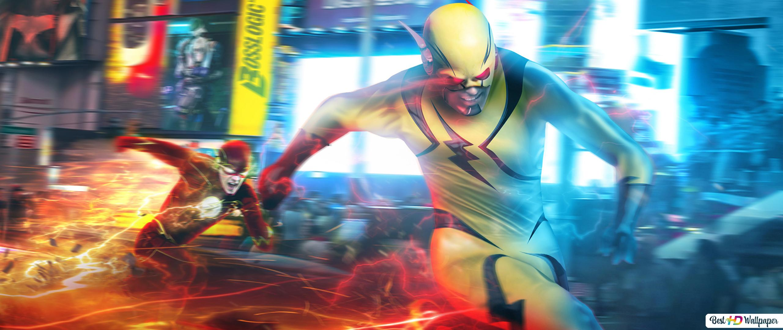 The Flash Series Flash Vs Reverse Flash Hd Wallpaper Download