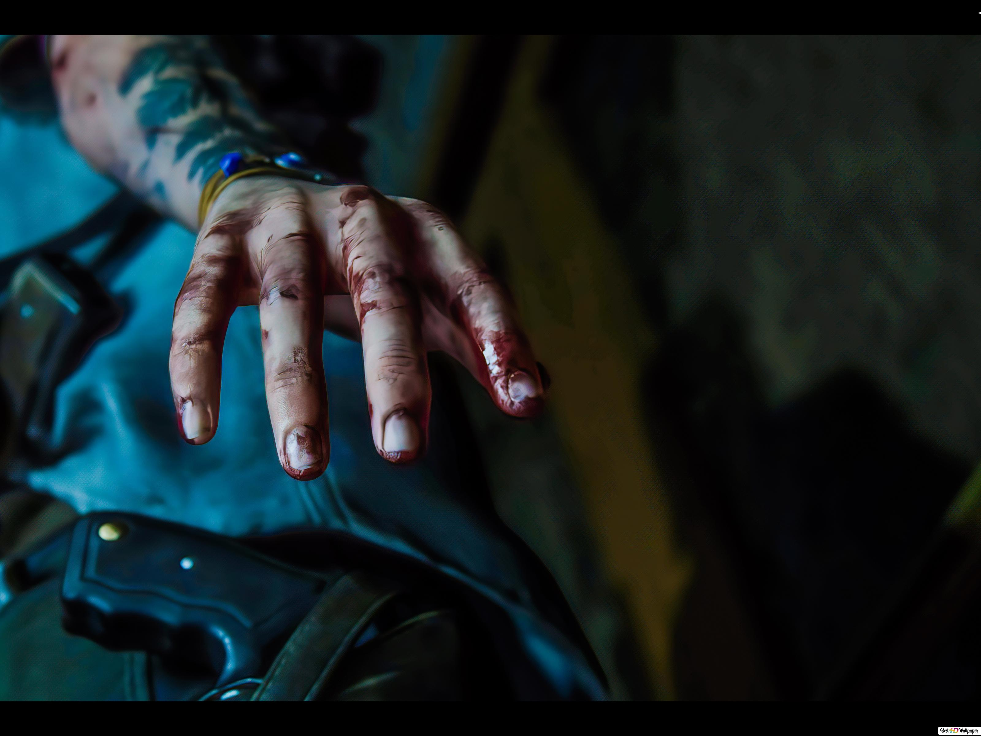 The Last Of Us 2 Ellie Blood Hand 8k 4k Hd Wallpaper Download