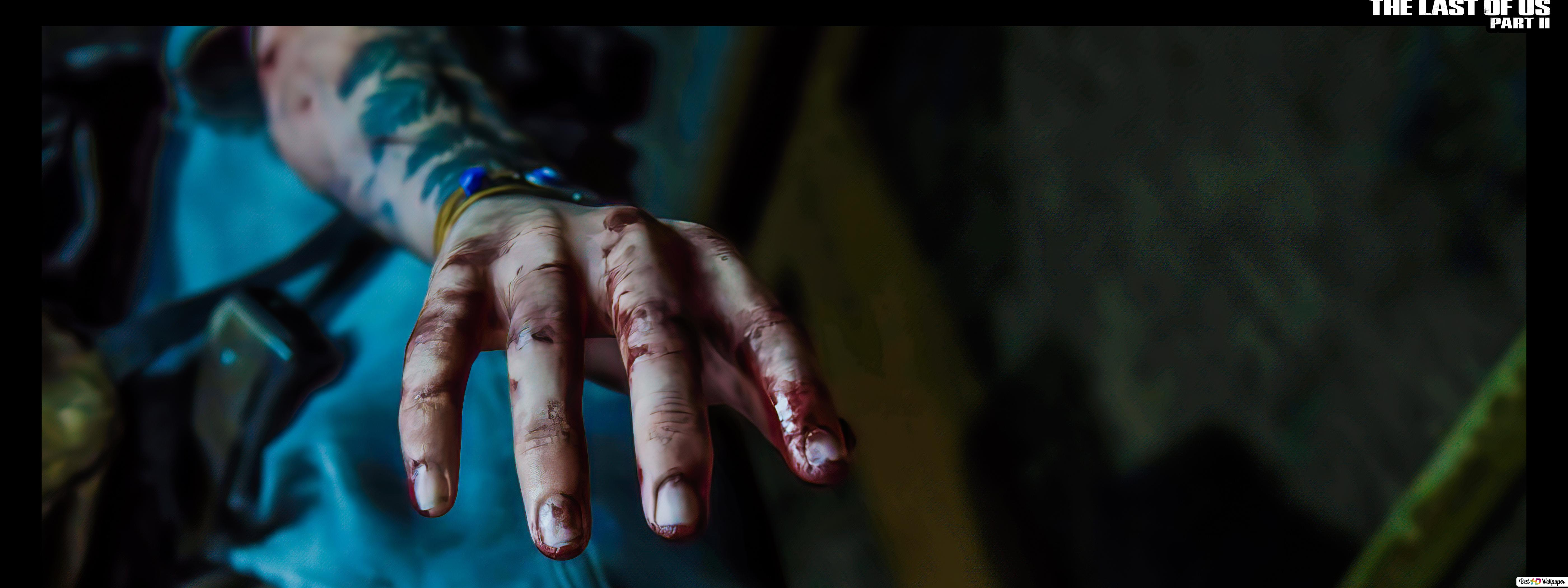 The Last Of Us 2 Ellie Blood Hand 8k 4k Hd Wallpaper Download