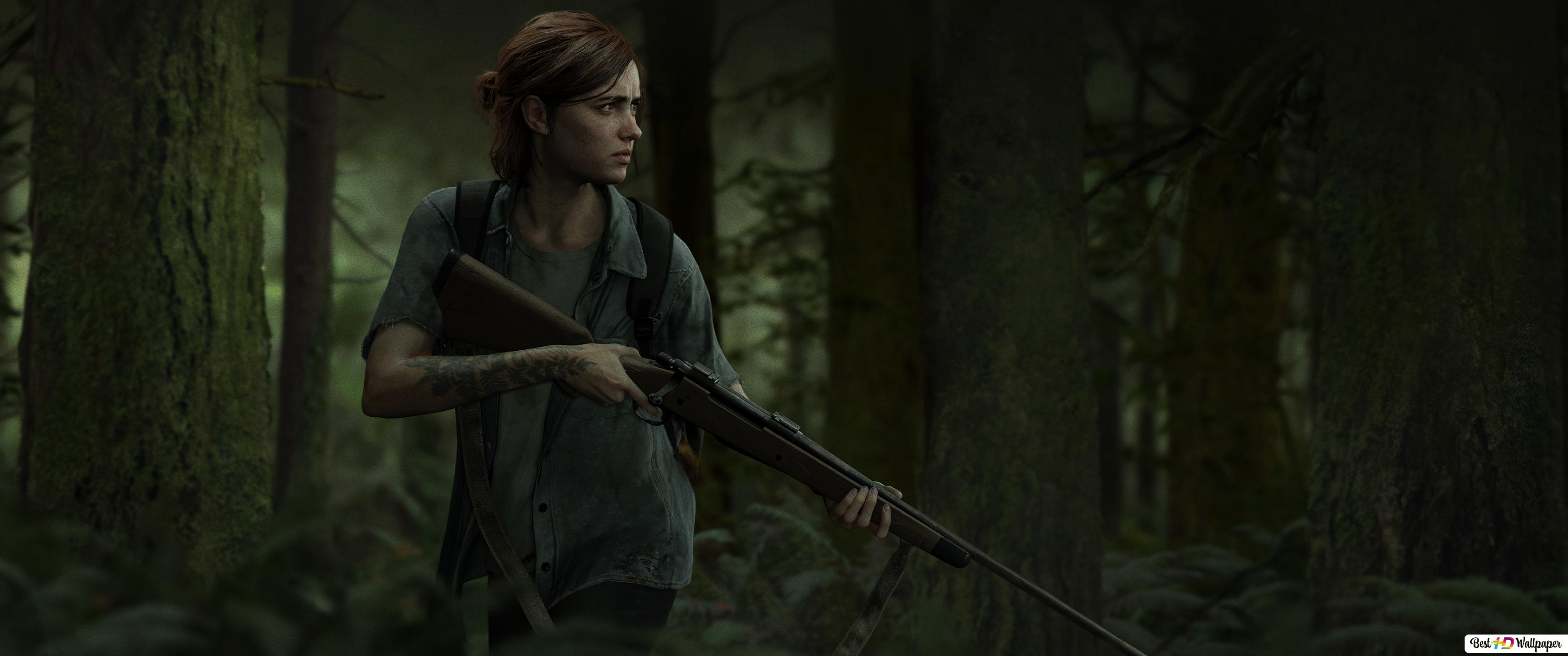 The Last Of Us 2 Outbreak Day Ellie In The Forest Hd Wallpaper
