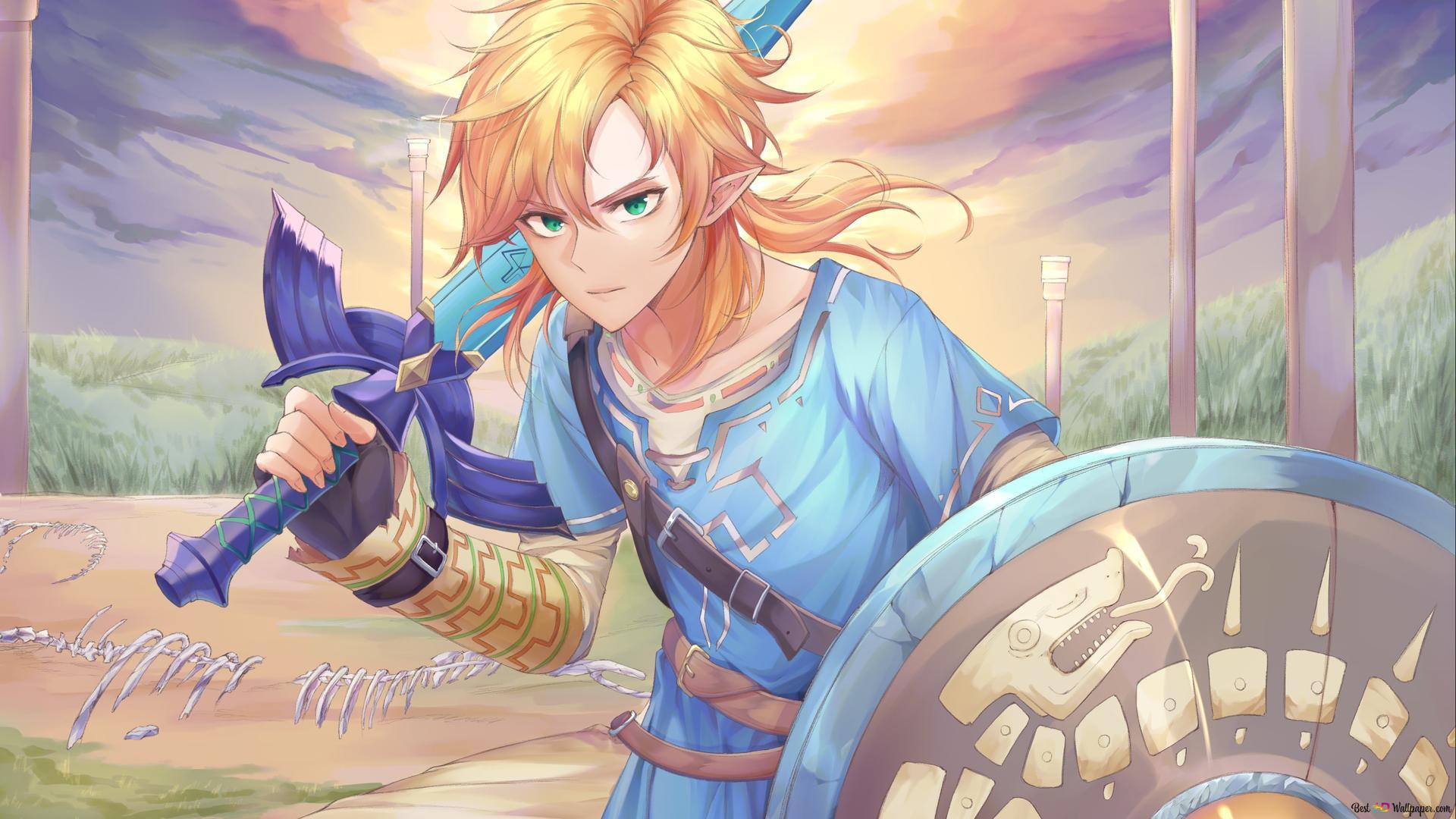 The Legend Of Zelda Breath Of The Wild Link Hd Wallpaper Download