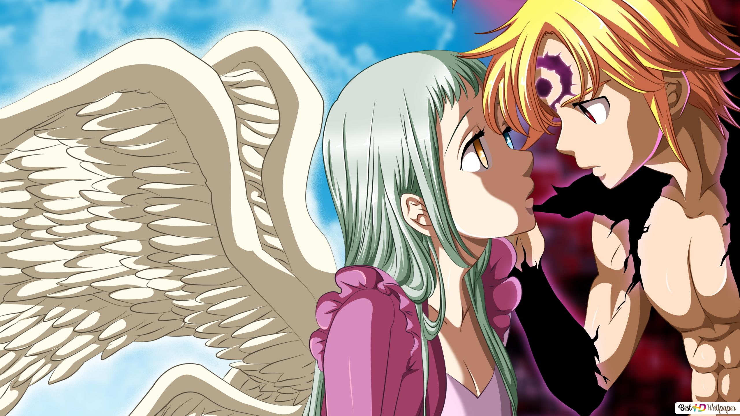 The Seven Deadly Sins Elizabeth Liones Arc Angel Meliodas
