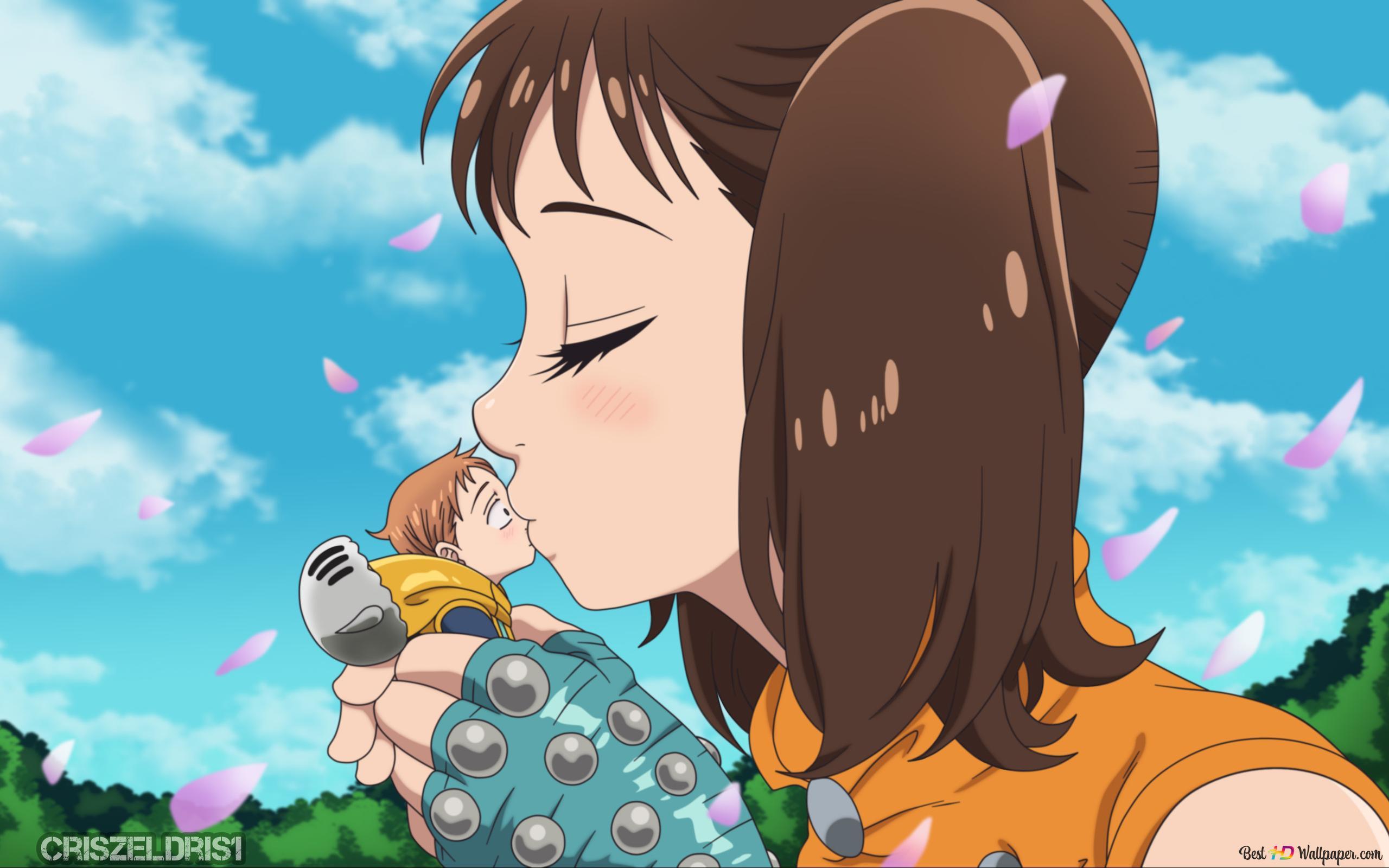The Seven Deadly Sins King X Diane Kiss Anime Style Hd Wallpaper