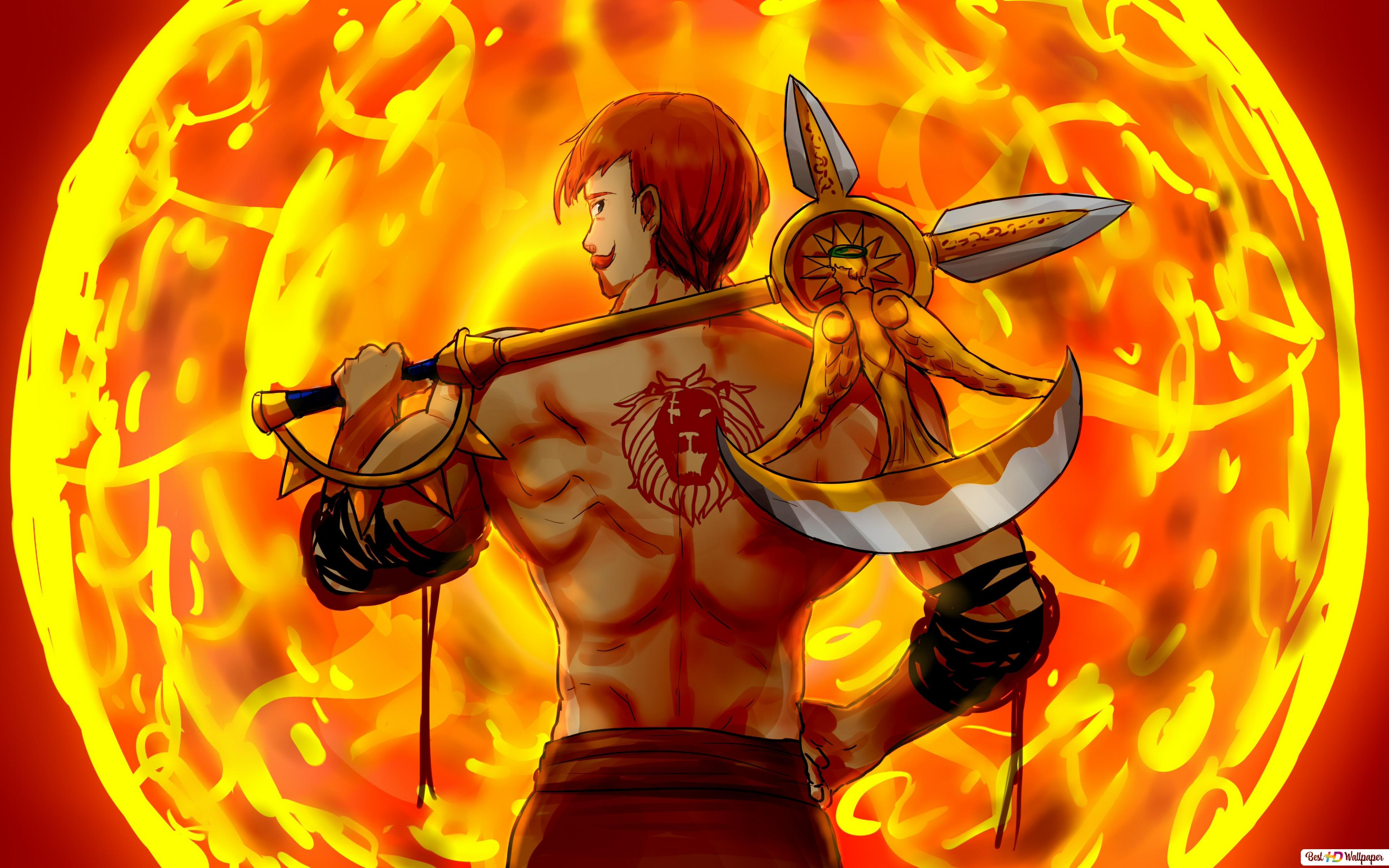 The Seven Deadly Sins Lions Sin Escanor Hd Wallpaper Download
