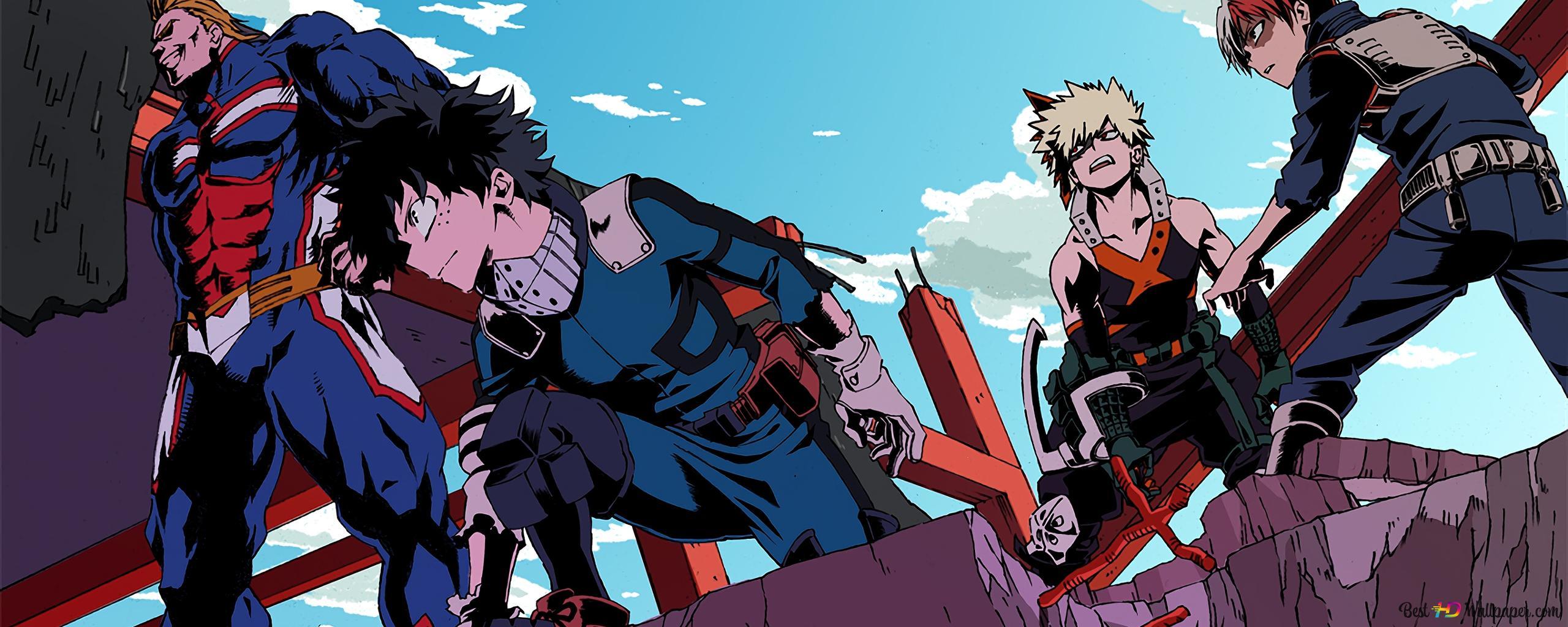 The Team Of My Hero Academia Hd Wallpaper Download