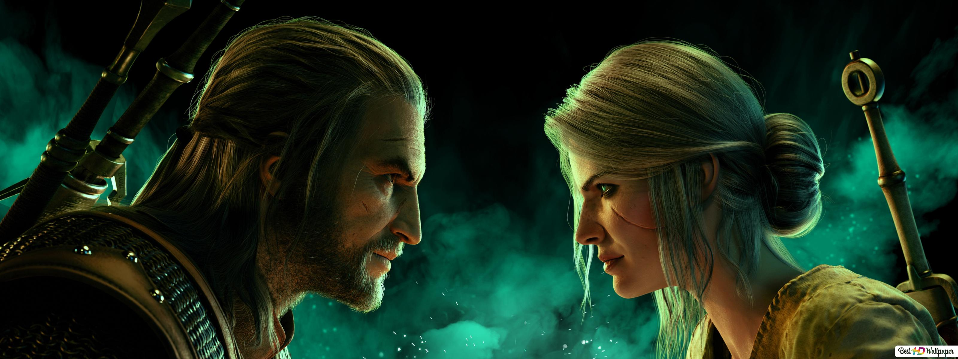 The Witcher 3 Wild Hunt Ciri And Geralt Of Rivia Hd Wallpaper