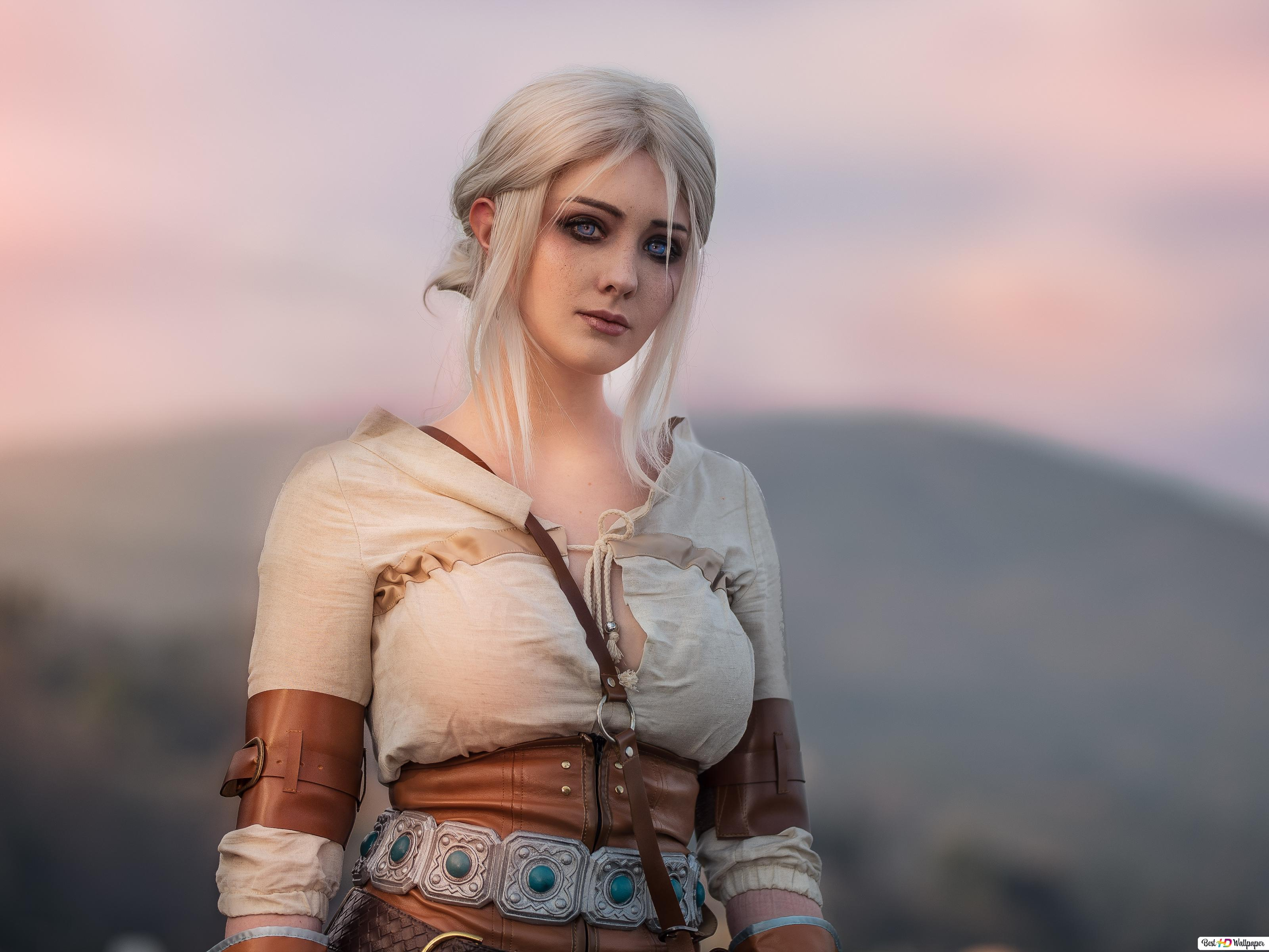 The Witcher 3 Wild Hunt Ciri Cosplay Hd Wallpaper Download