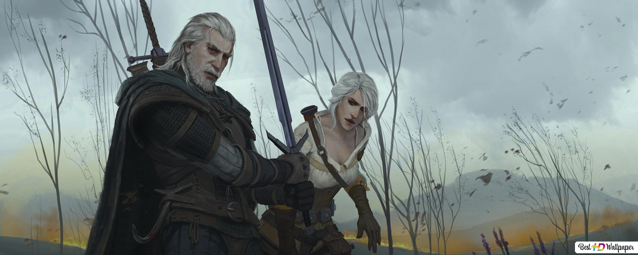 The Witcher 3 Wild Hunt Cirilla And Geralt Of Rivia Hd