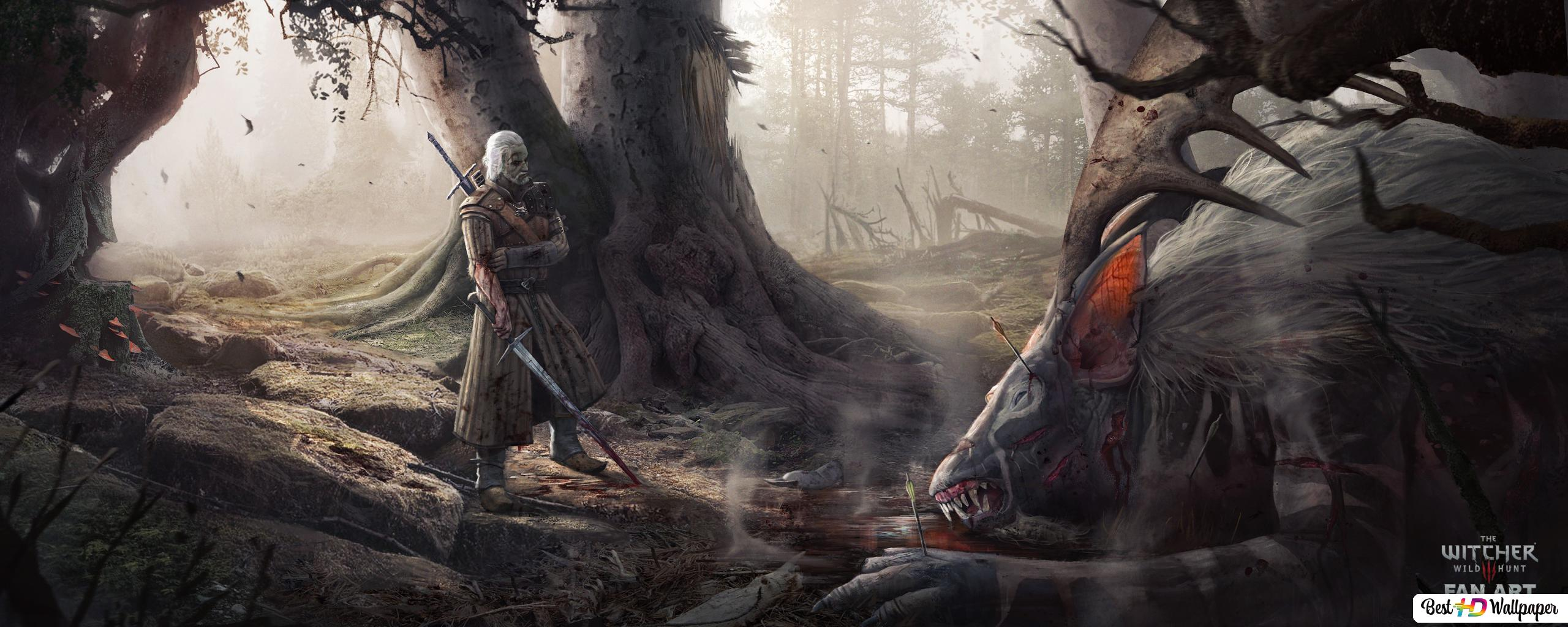The Witcher 3 Wild Hunt Forest Fanart Hd Wallpaper Download