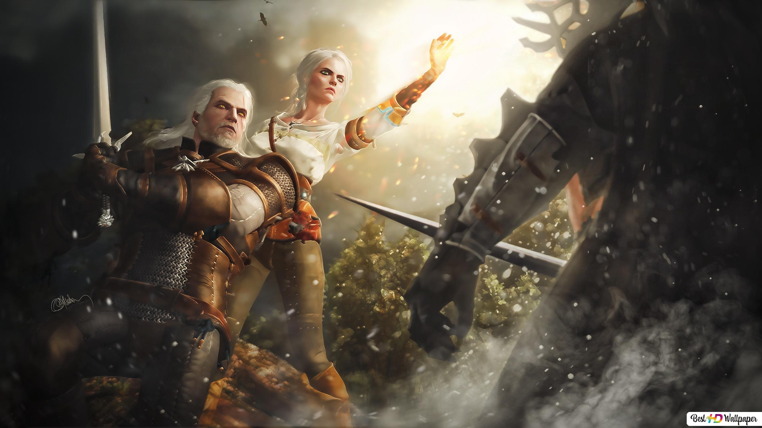 The Witcher 3 Wild Hunt Geralt And Ciri Hd Wallpaper Download
