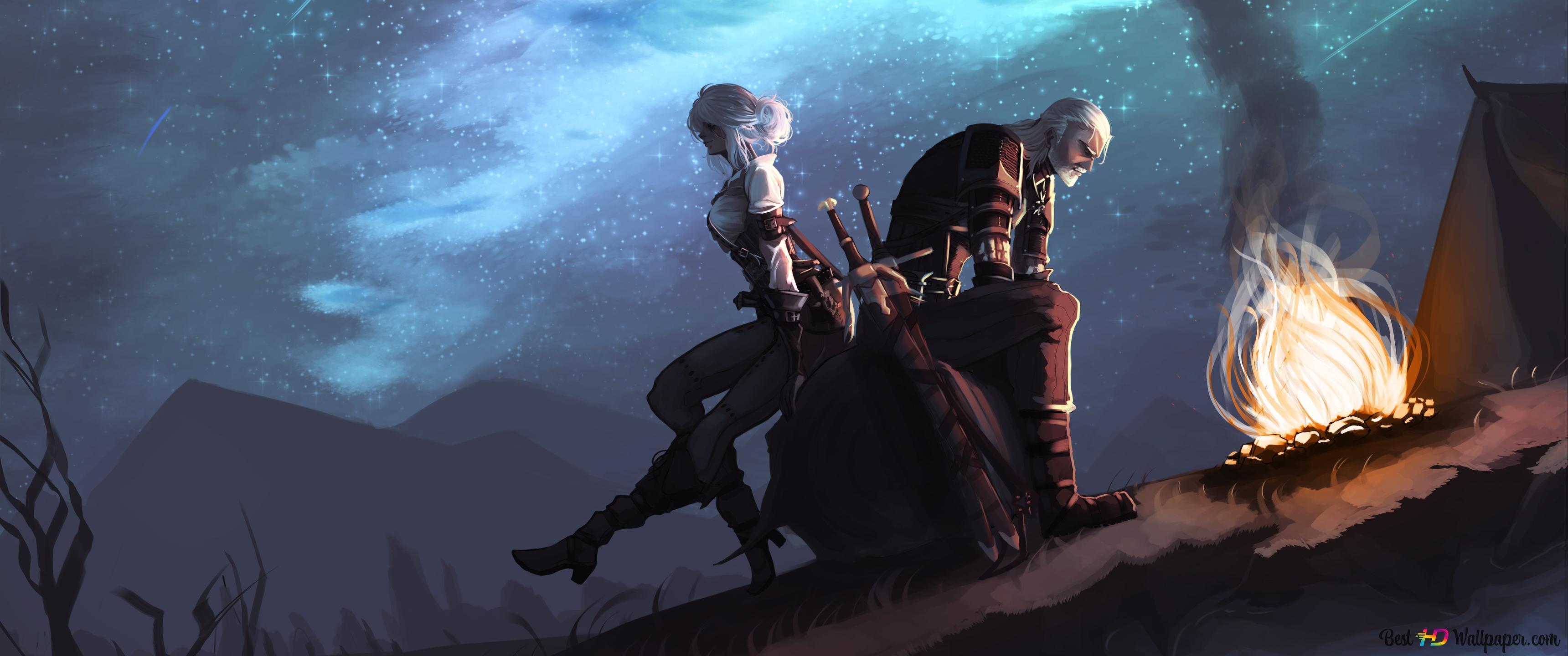 The Witcher 3 Wild Hunt Geralt Ciri Hd Wallpaper Download