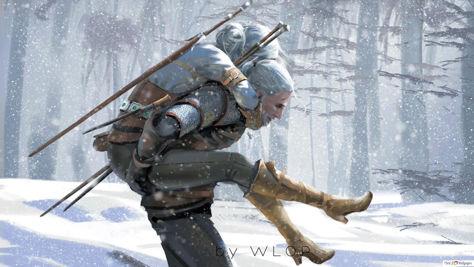The Witcher 3 Wild Hunt Geralt Of Rivia And Ciri Hd Wallpaper
