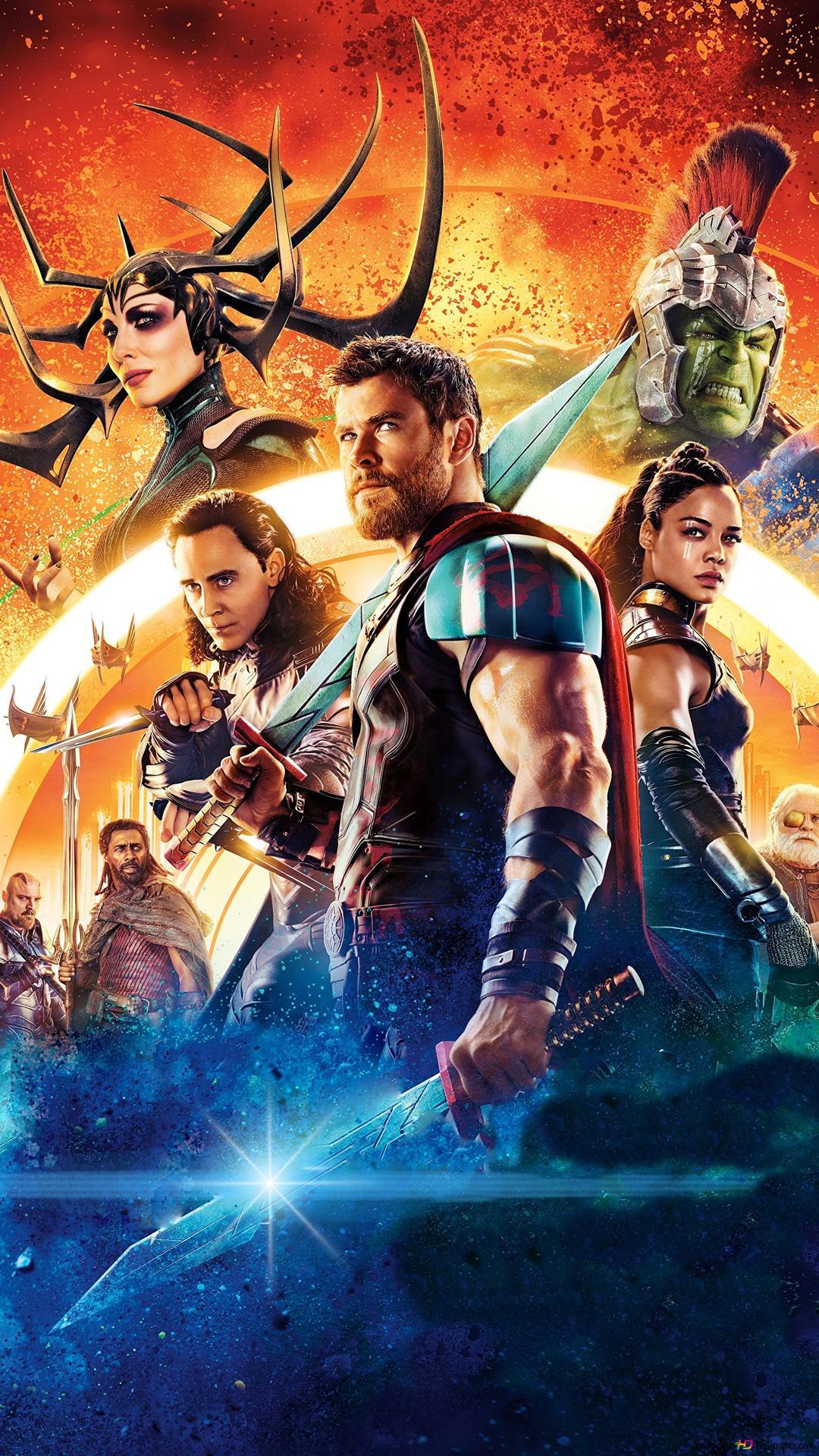 Thor Ragnarok Film Heroes Hd Hintergrundbilder Herunterladen