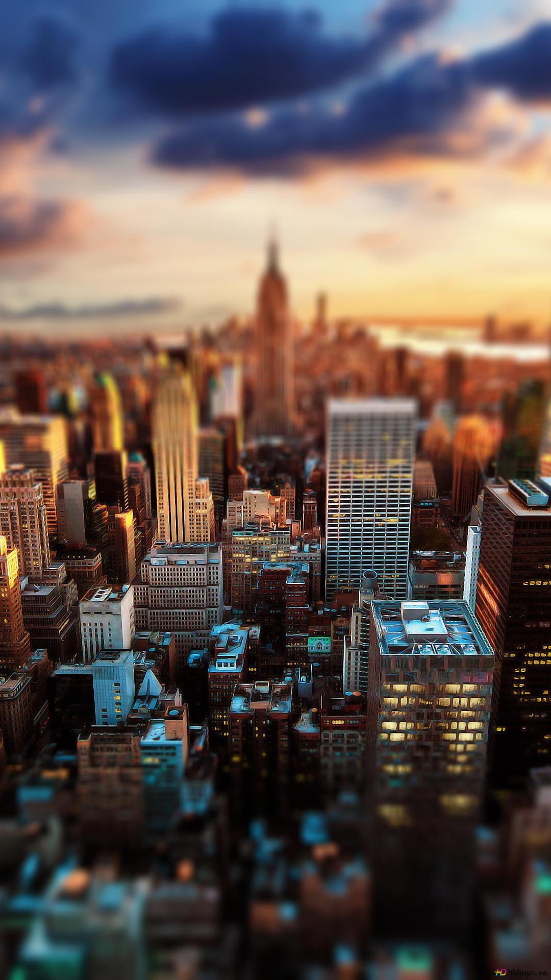 Tilting New York Hd Wallpaper Download