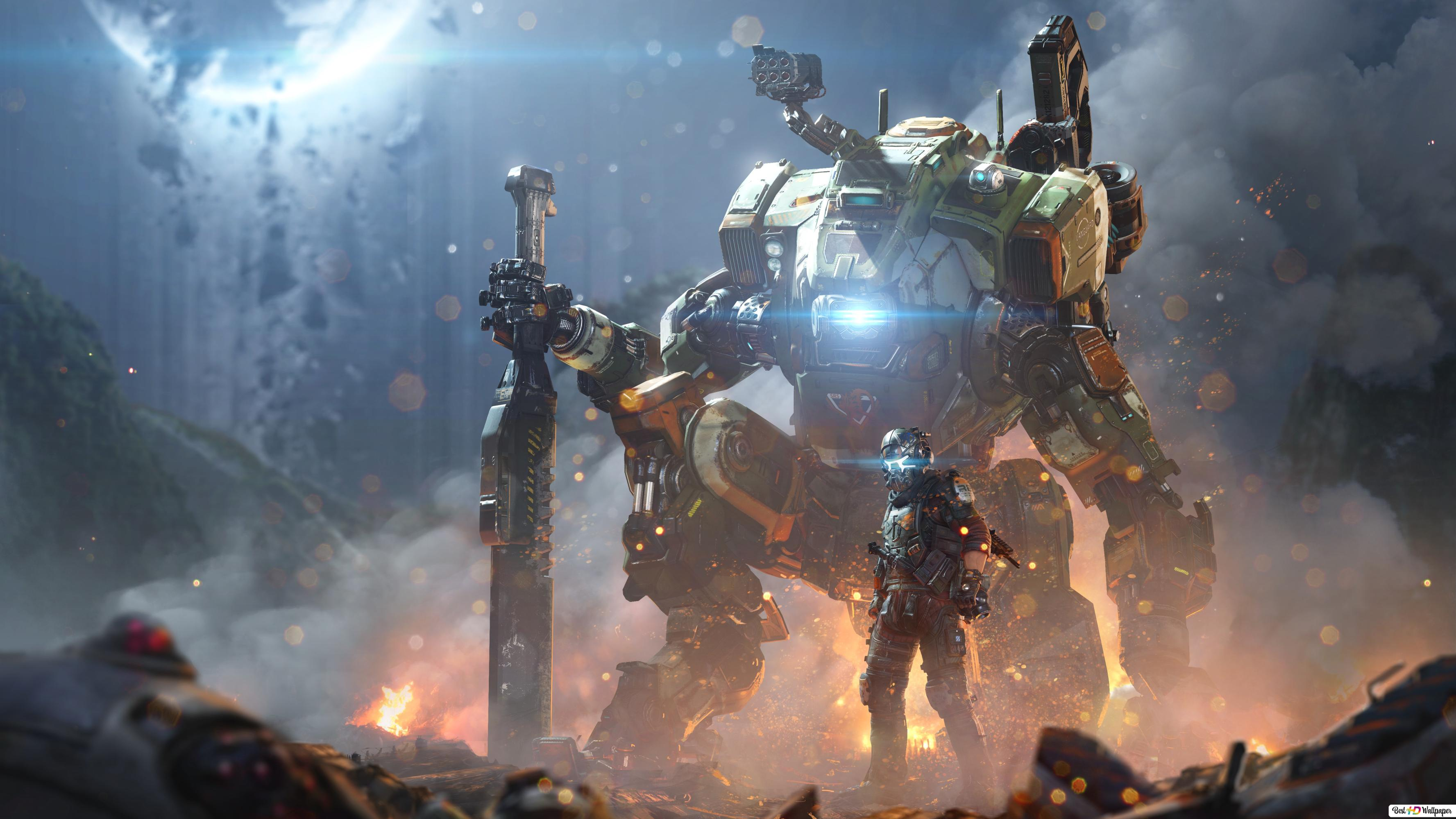 Titanfall 2 Gry Robot I żołnierz Hd Tapety Do Pobrania