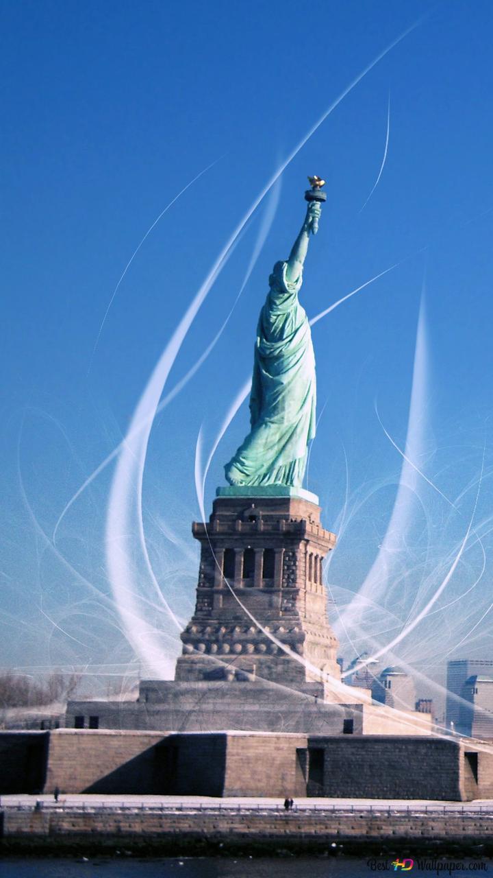 تمثال الحرية في مدينة نيويورك تنزيل خلفية Hd