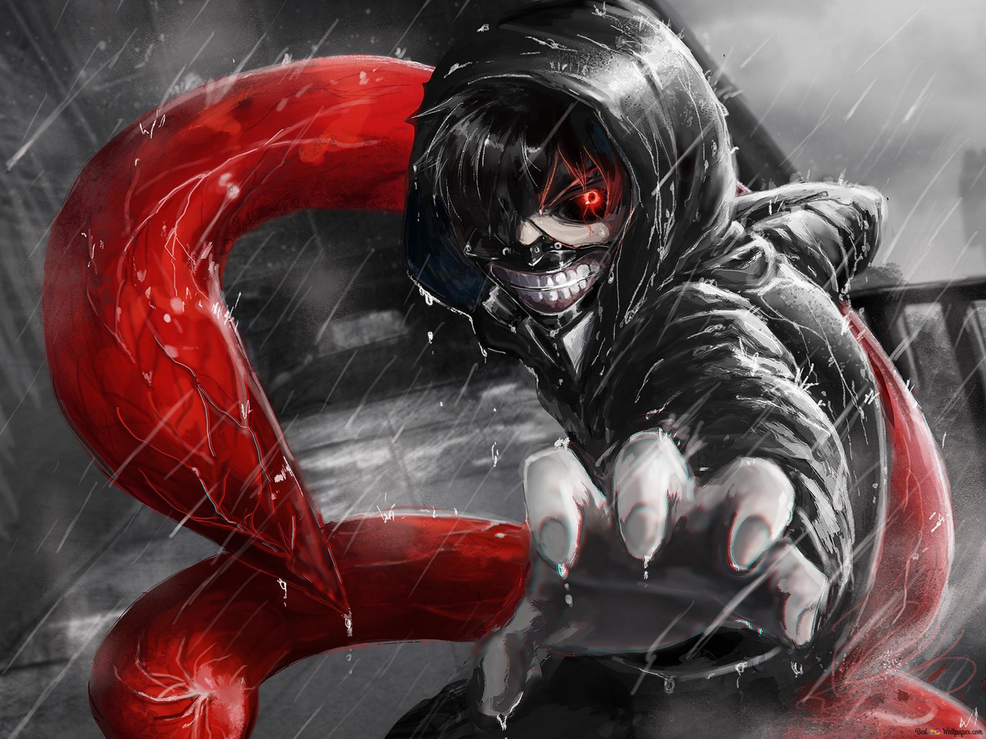Tokyo Ghoul Ken Kaneki Eyepatch Black Reaper Hd Wallpaper Download