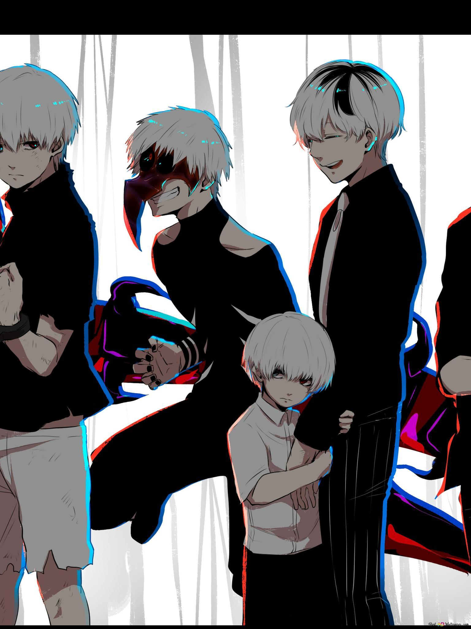 Tokyo Ghoul Re Ken Kaneki All Incarnation Hd Wallpaper