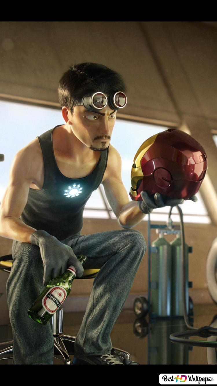 Tony Stark Cartoon Hd Wallpaper Download