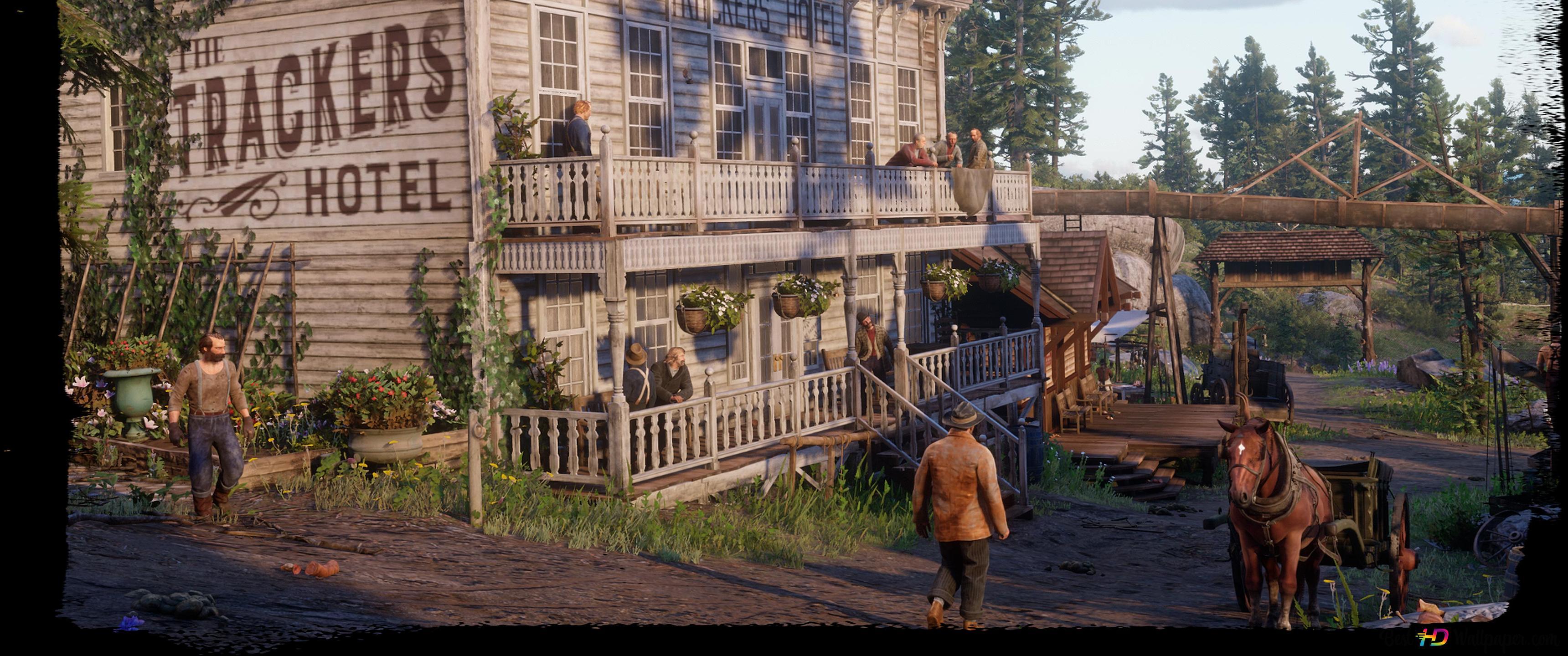 Trackers Hotel De Red Dead Redemption Hd Wallpaper Download