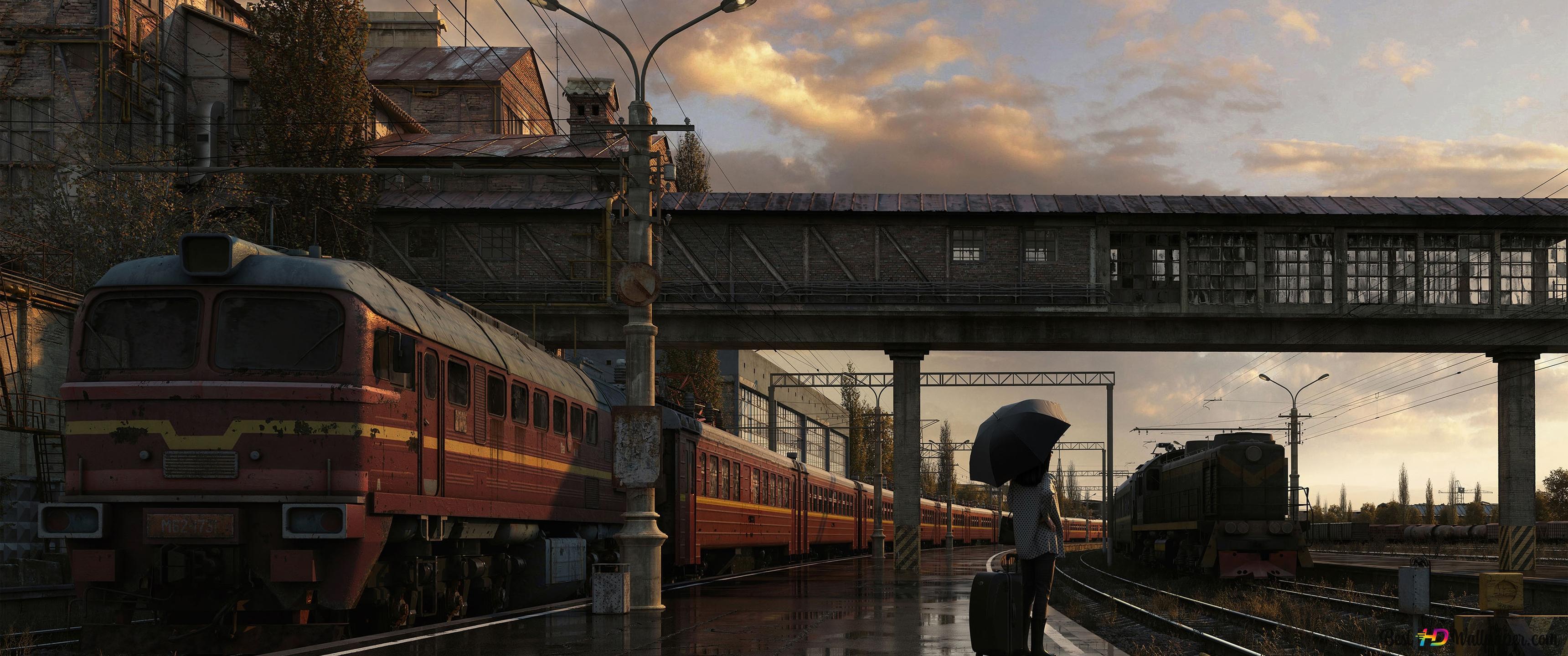 Train Station Hd Wallpaper Download