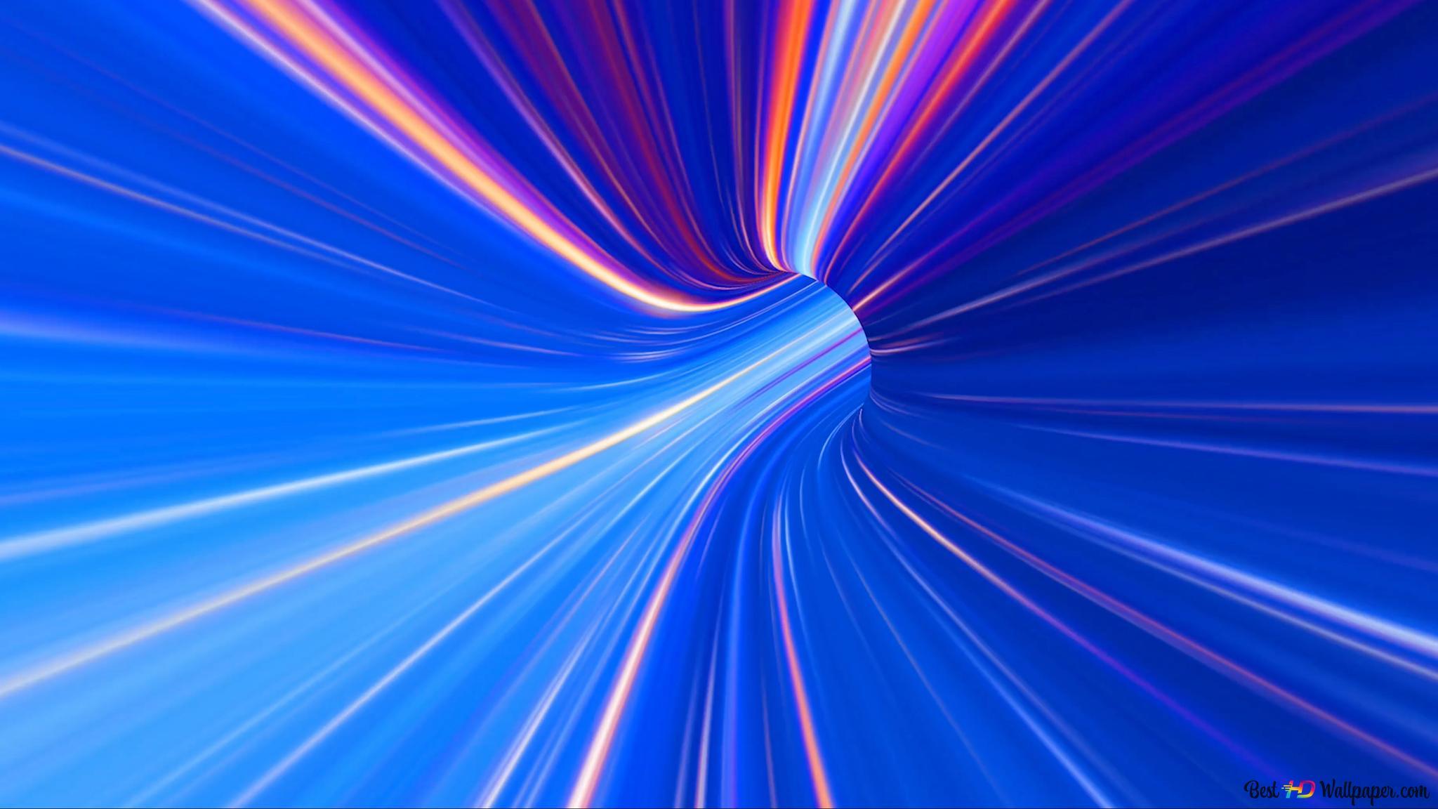 Tunnel Bleu Spectre Hd Fond Décran Télécharger