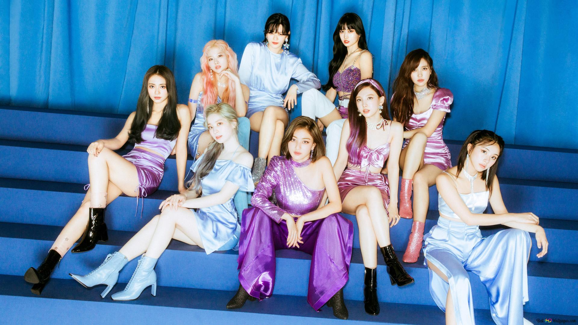 Twice K Pop Band Members In Feel Special Mv Photoshoot Hd Wallpaper Download