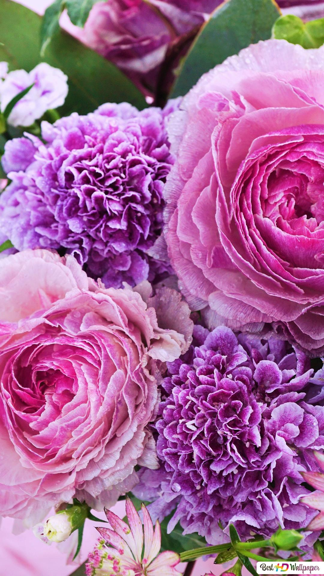 Un Bouquet Di Fiori Rosa Download Di Sfondi Hd