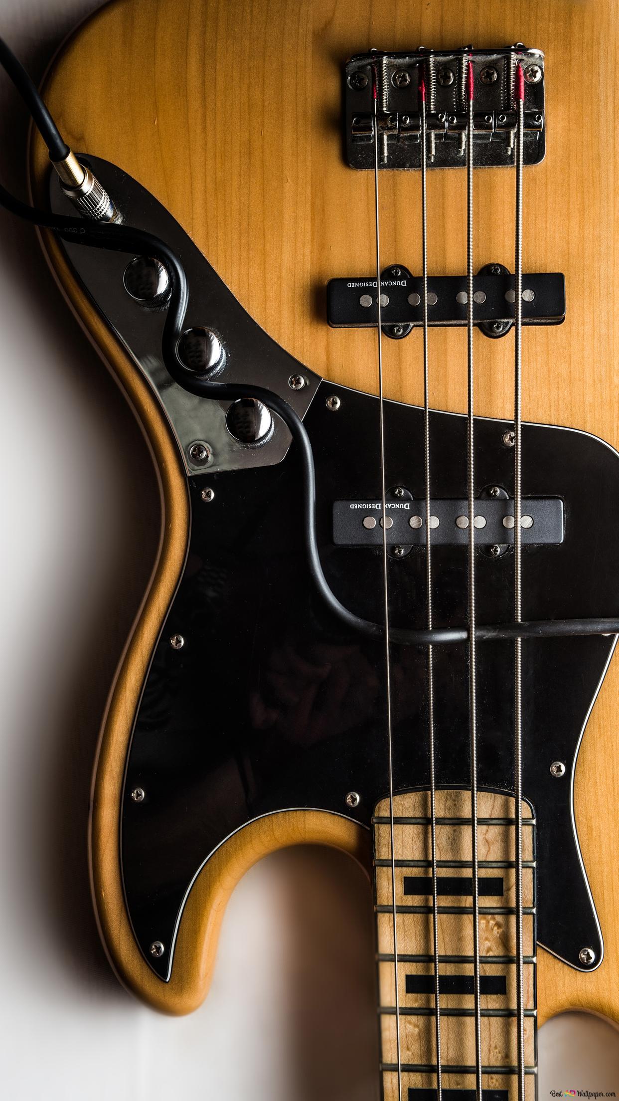 Upside Down Bass Guitar Hd Wallpaper Download