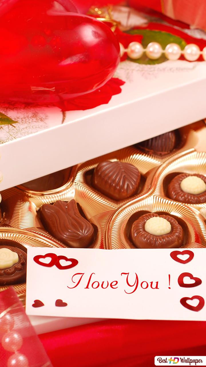 Valentines Day Chocolates With Love Note Hd Wallpaper Download