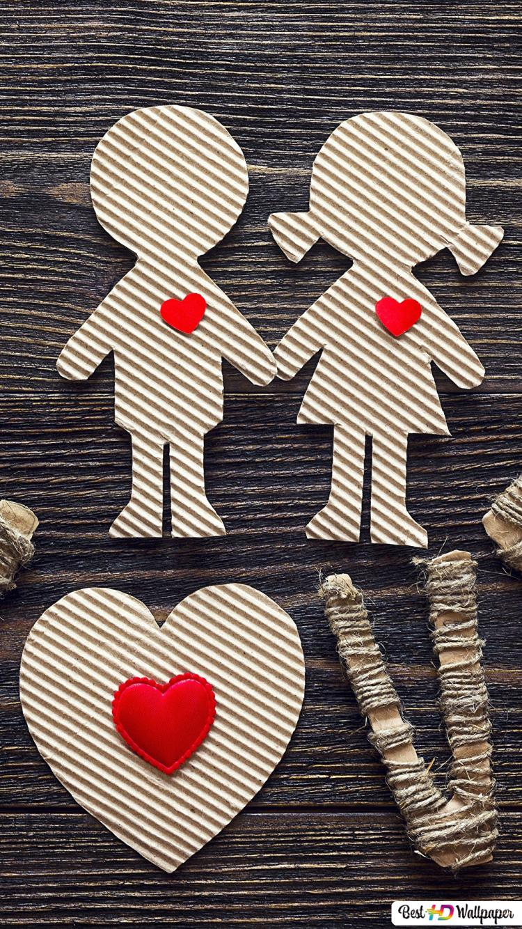 Valentine S Day Handmade Love Decoration Hd Wallpaper Download