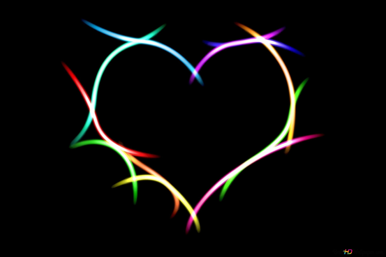 valentine s day neon lights heart wallpaper 3000x2000 13409 42