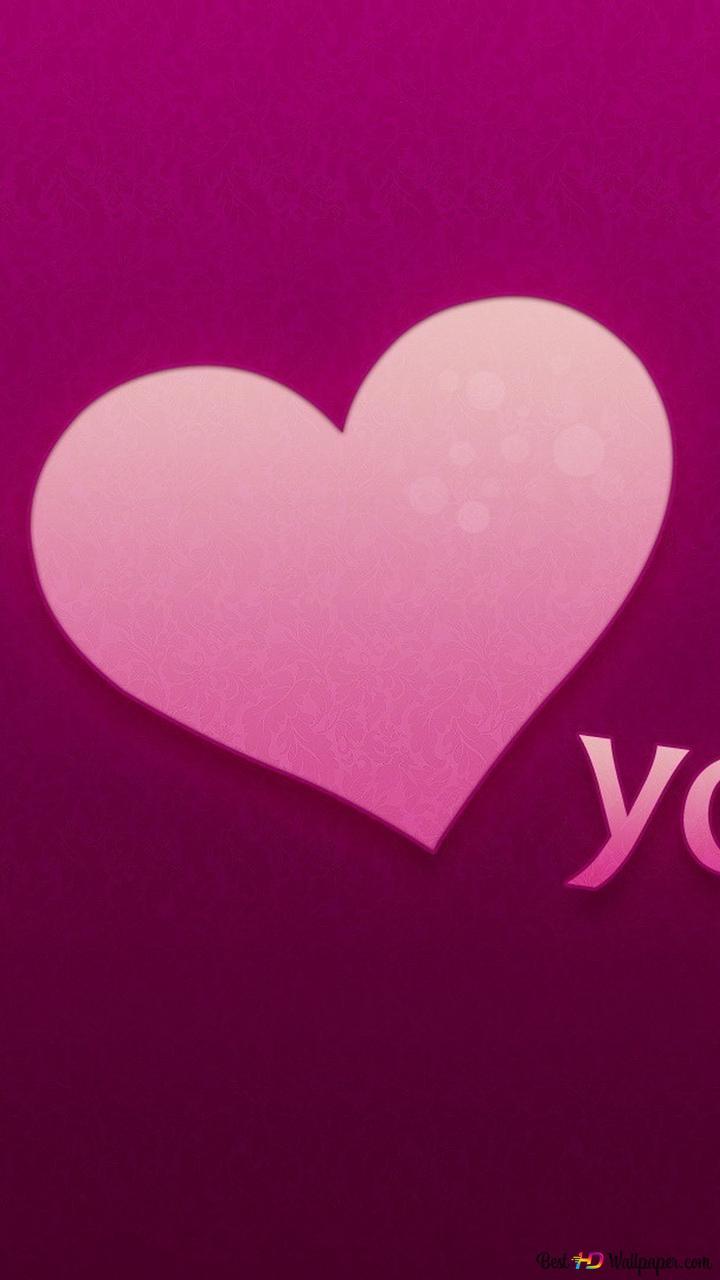 Valentines Day Pink Love Background Hd Wallpaper Download