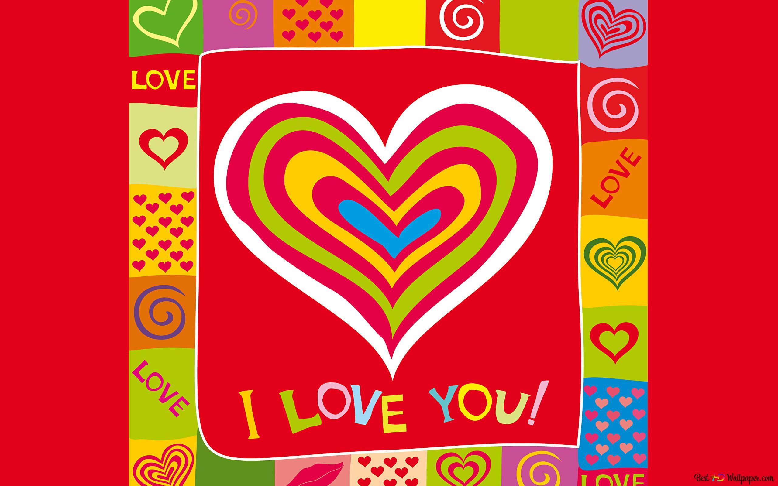 Valentine S Day Vector Love Heart Design Hd Wallpaper Download