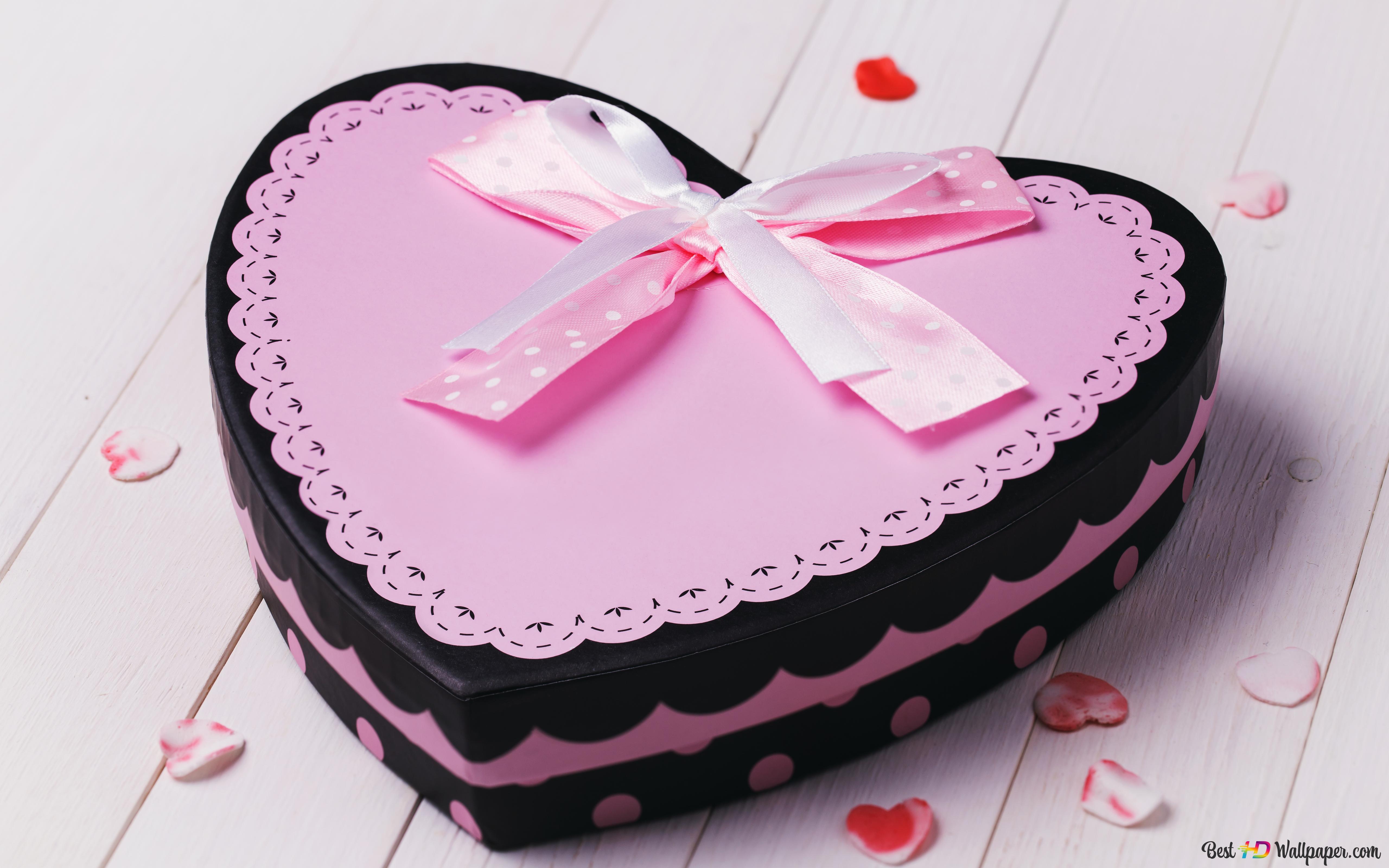 Valentinstag Heart Shaped Liebe Kuchen Hd Hintergrundbilder