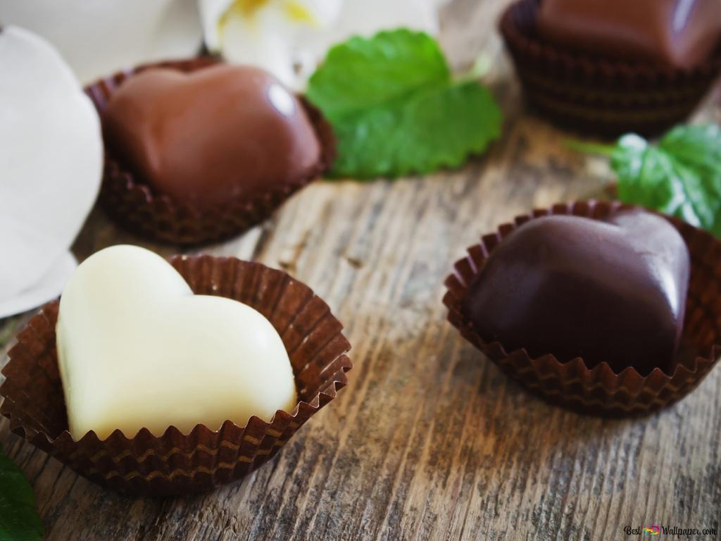 Valentinstag Herz Pralinen In Den Kuchenzwischenlagen Hd