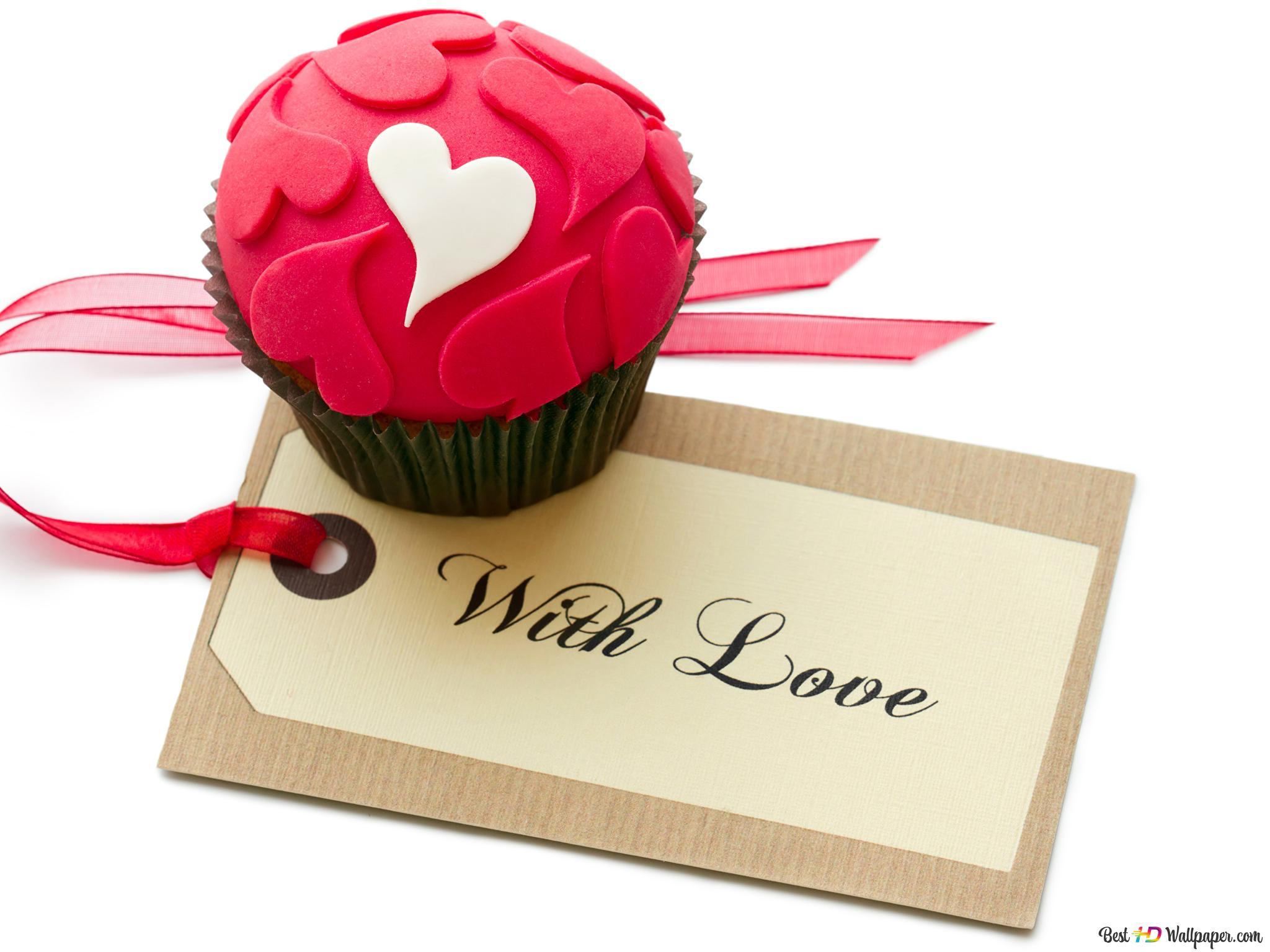 Valentinstag Kuchen Mit Herzen Dekoration Hd Hintergrundbilder