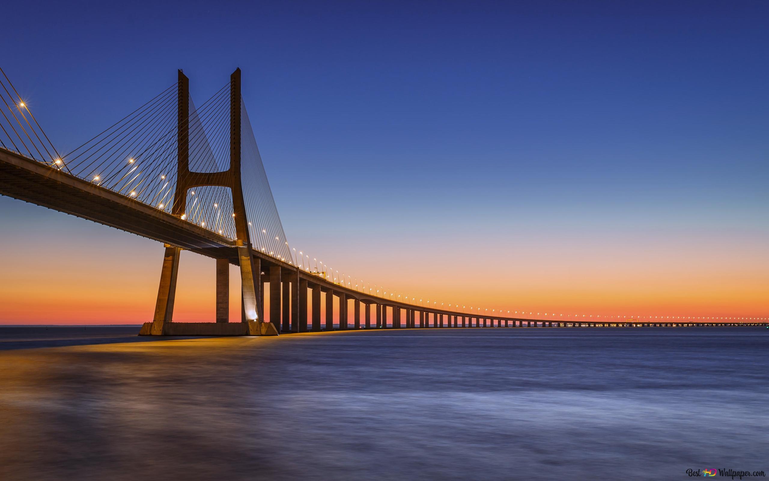 Vasco Da Gama Bridge Hd Wallpaper Download