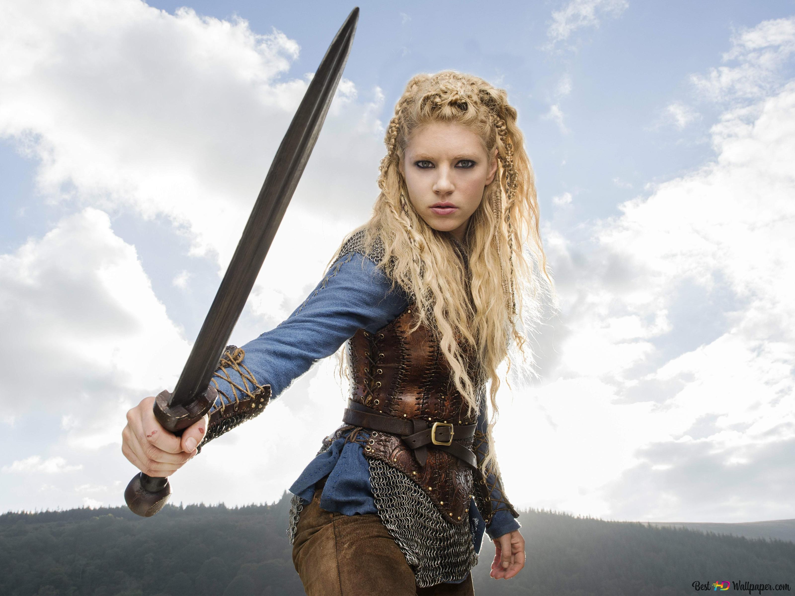 Vikings Series Lagertha Hd Wallpaper Download