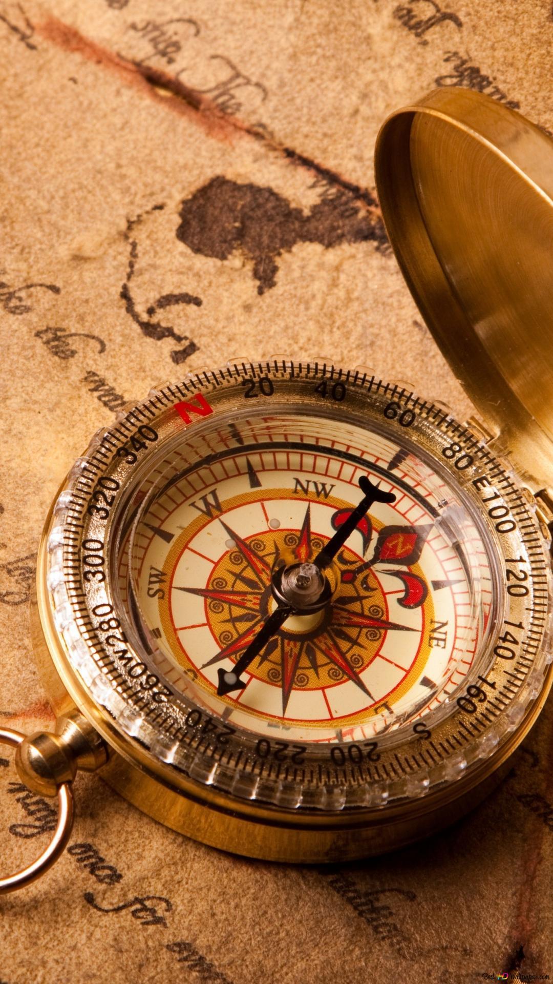 Vintage Compass Hd Wallpaper Download