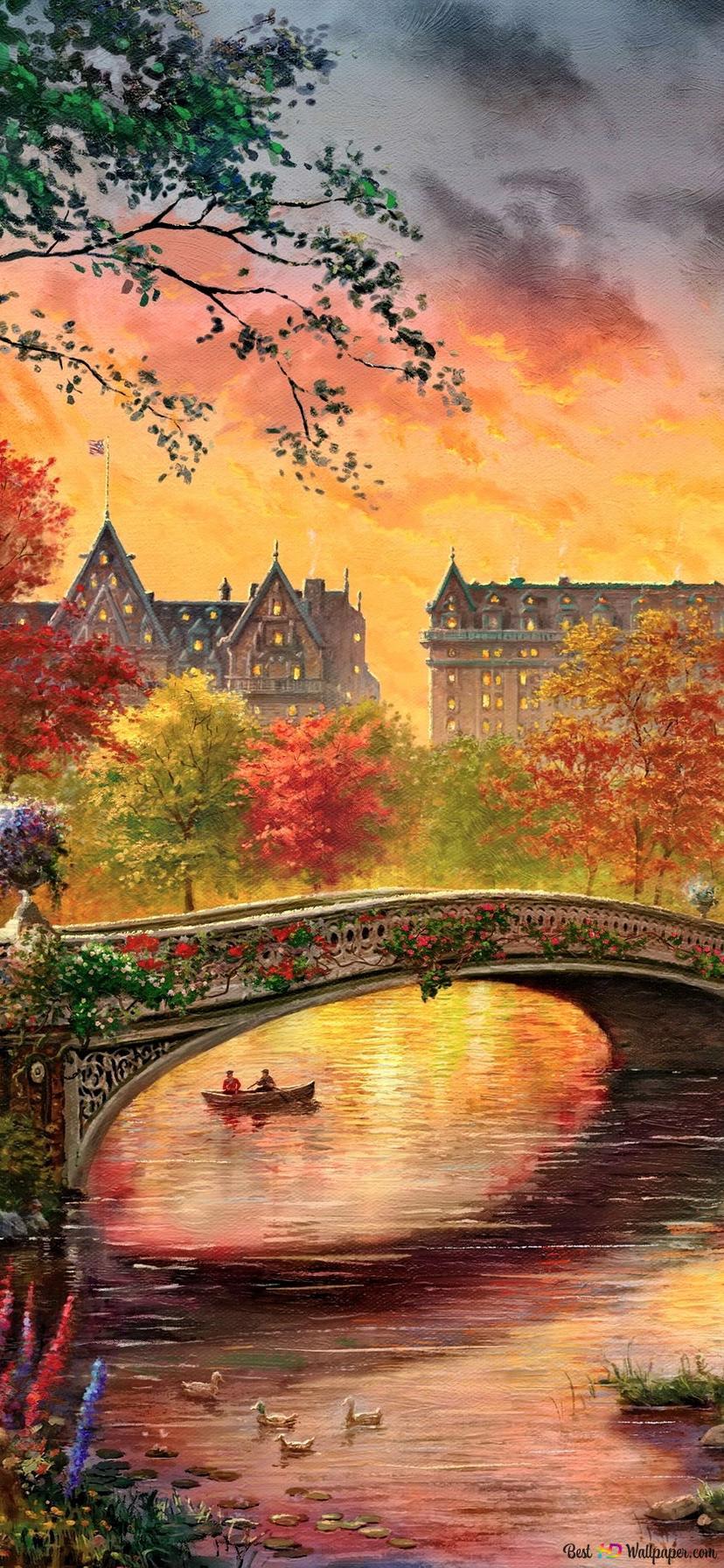 Vintage Herbst Im Central Park New York City Hd
