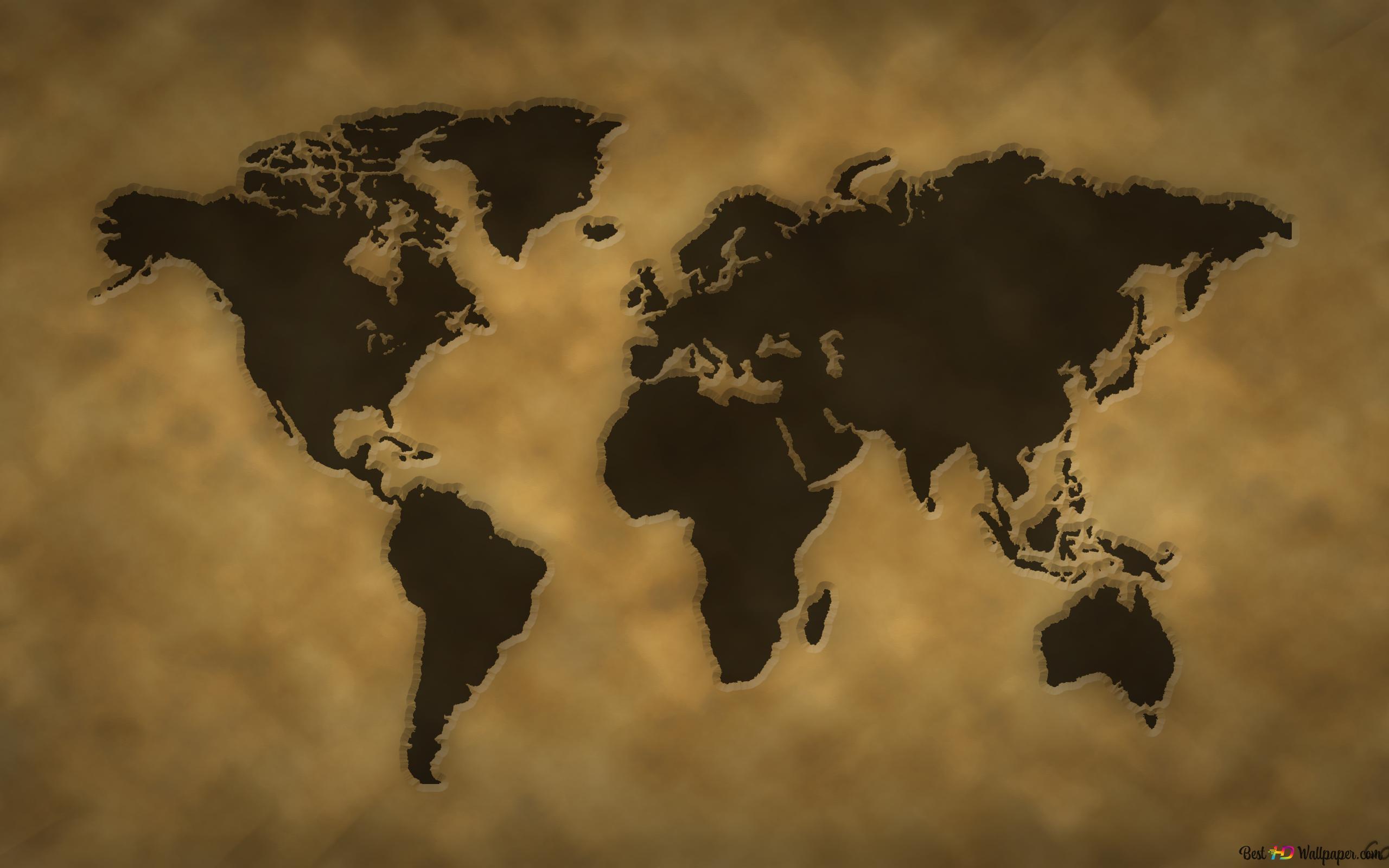 Vintage World Map Hd Wallpaper Download