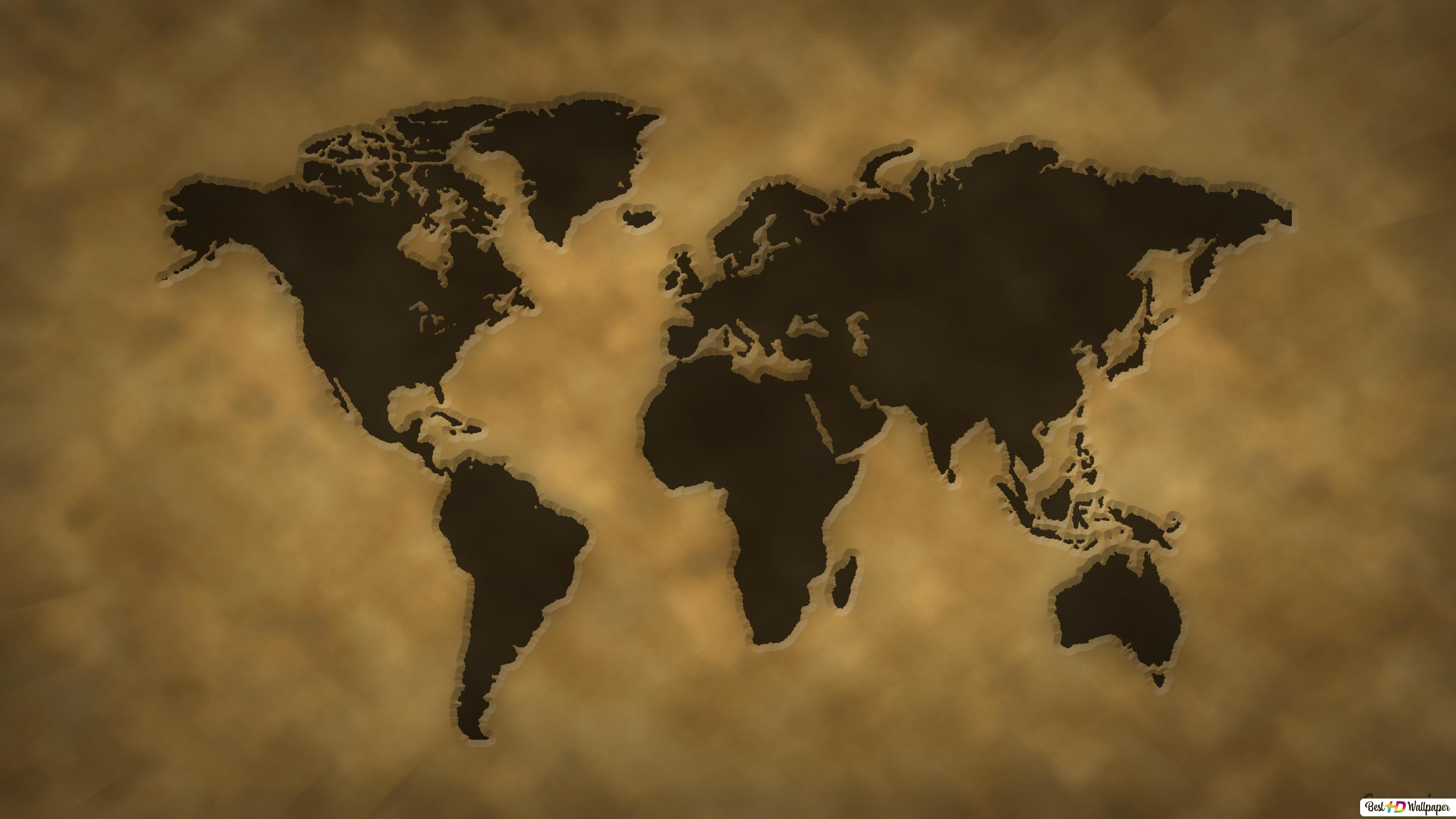 Vintage World Map Hd Wallpaper Download